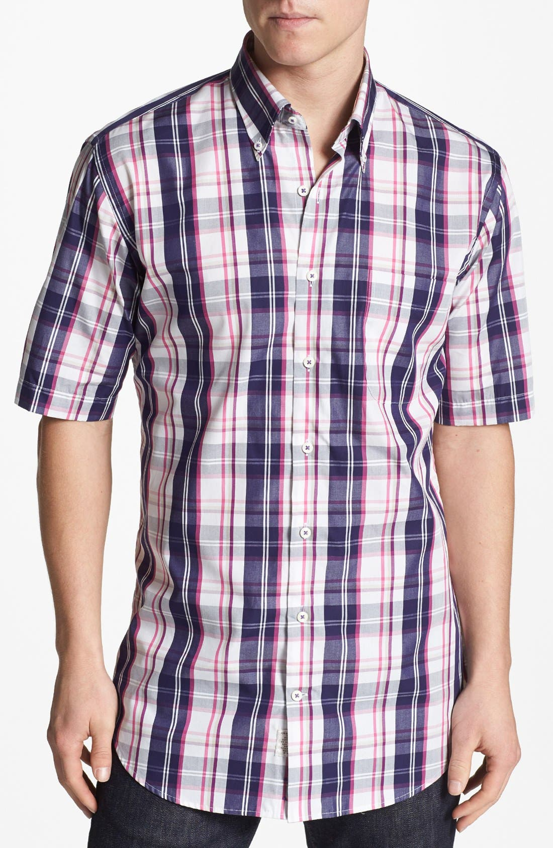 Alternate Image 1 Selected - Peter Millar 'San Juan Island' Short Sleeve Sport Shirt