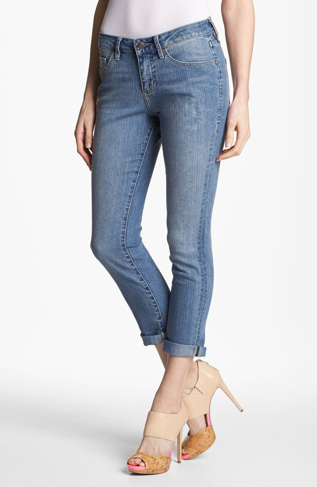 Alternate Image 1 Selected - Jag Jeans 'Tommy' Skinny Crop Boyfriend Jeans (Classic Vintage) (Petite)