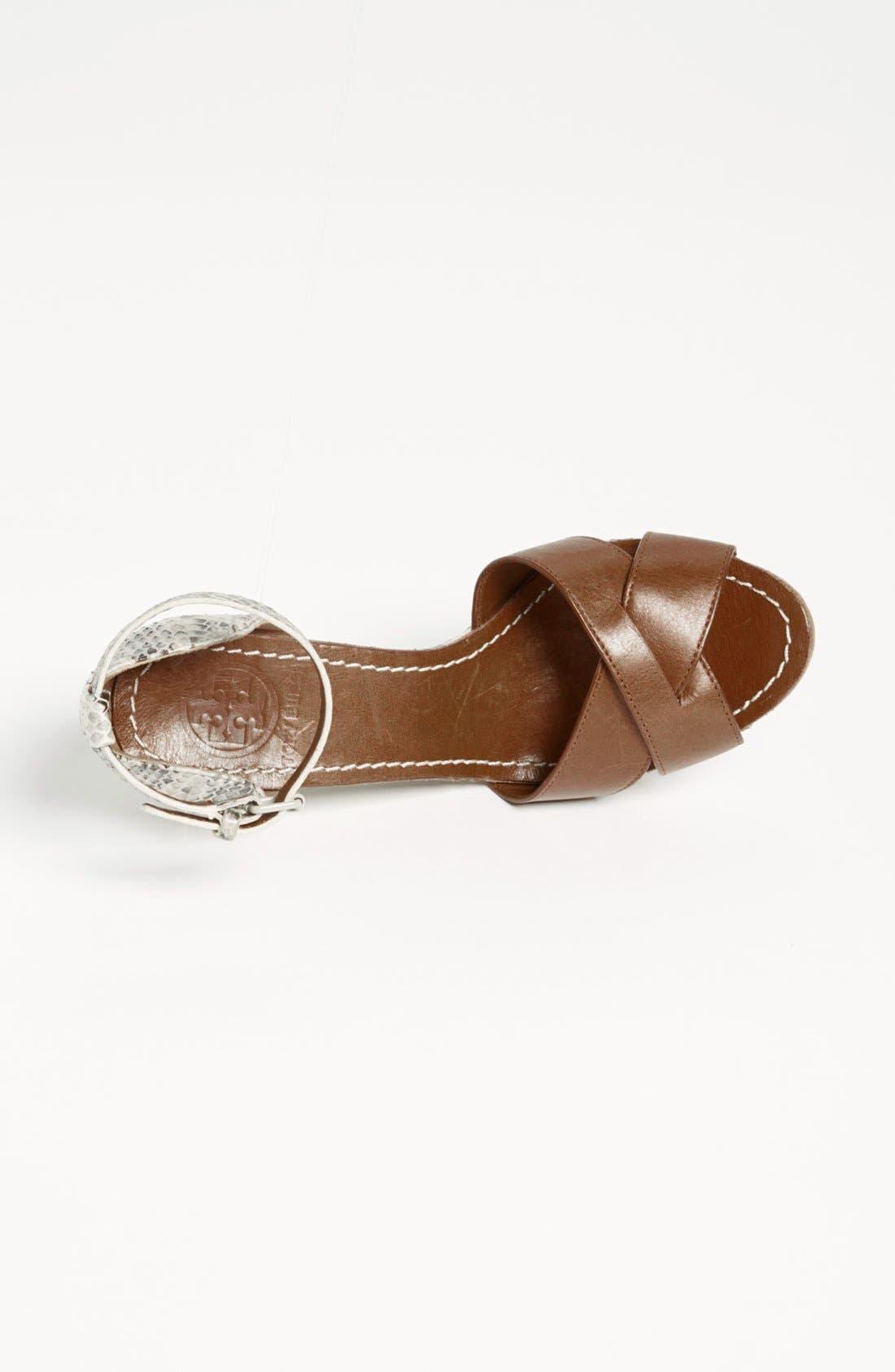 Alternate Image 3  - Tory Burch 'Livia' Genuine Snakeskin Wedge Sandal