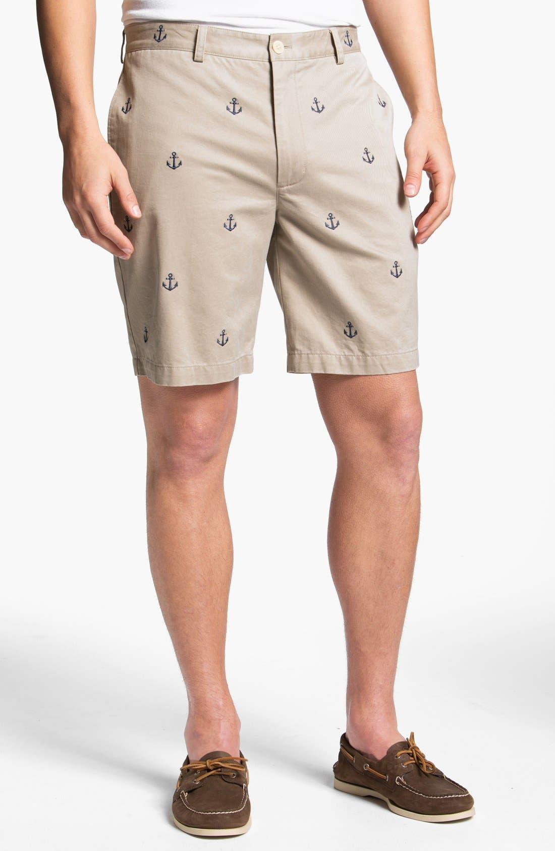 Main Image - Vineyard Vines 'Embroidered Anchor' Shorts