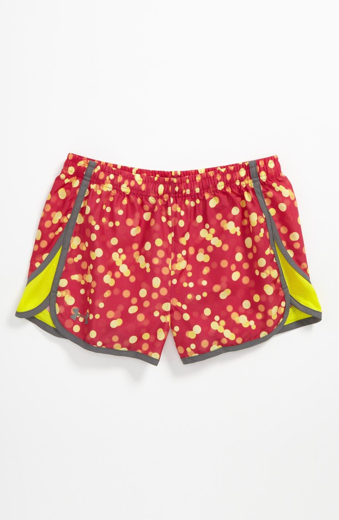Main Image - Under Armour 'Escape' HeatGear® Print Shorts (Big Girls)