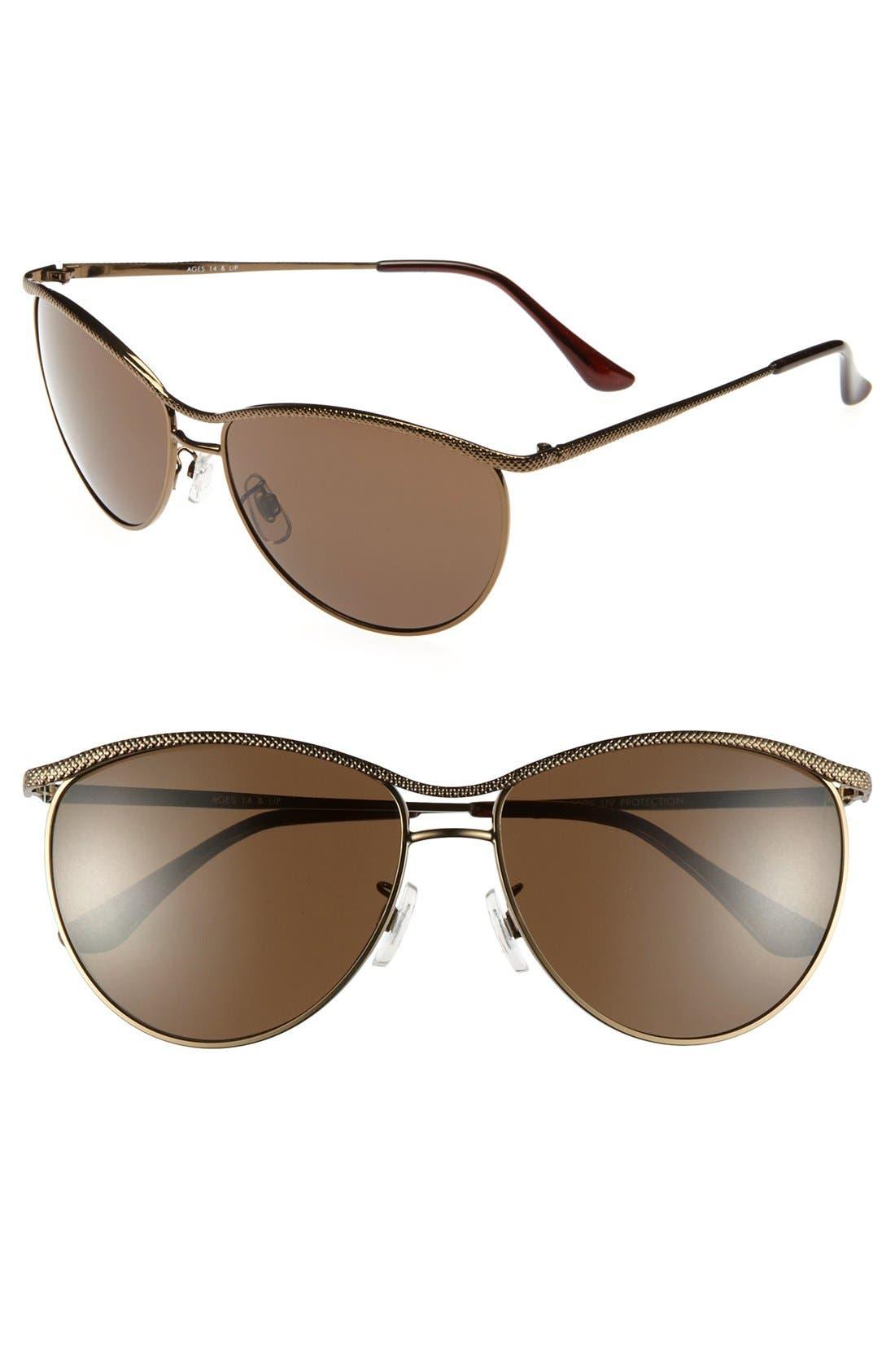 Alternate Image 1 Selected - FE NY 'Harley' Sunglasses