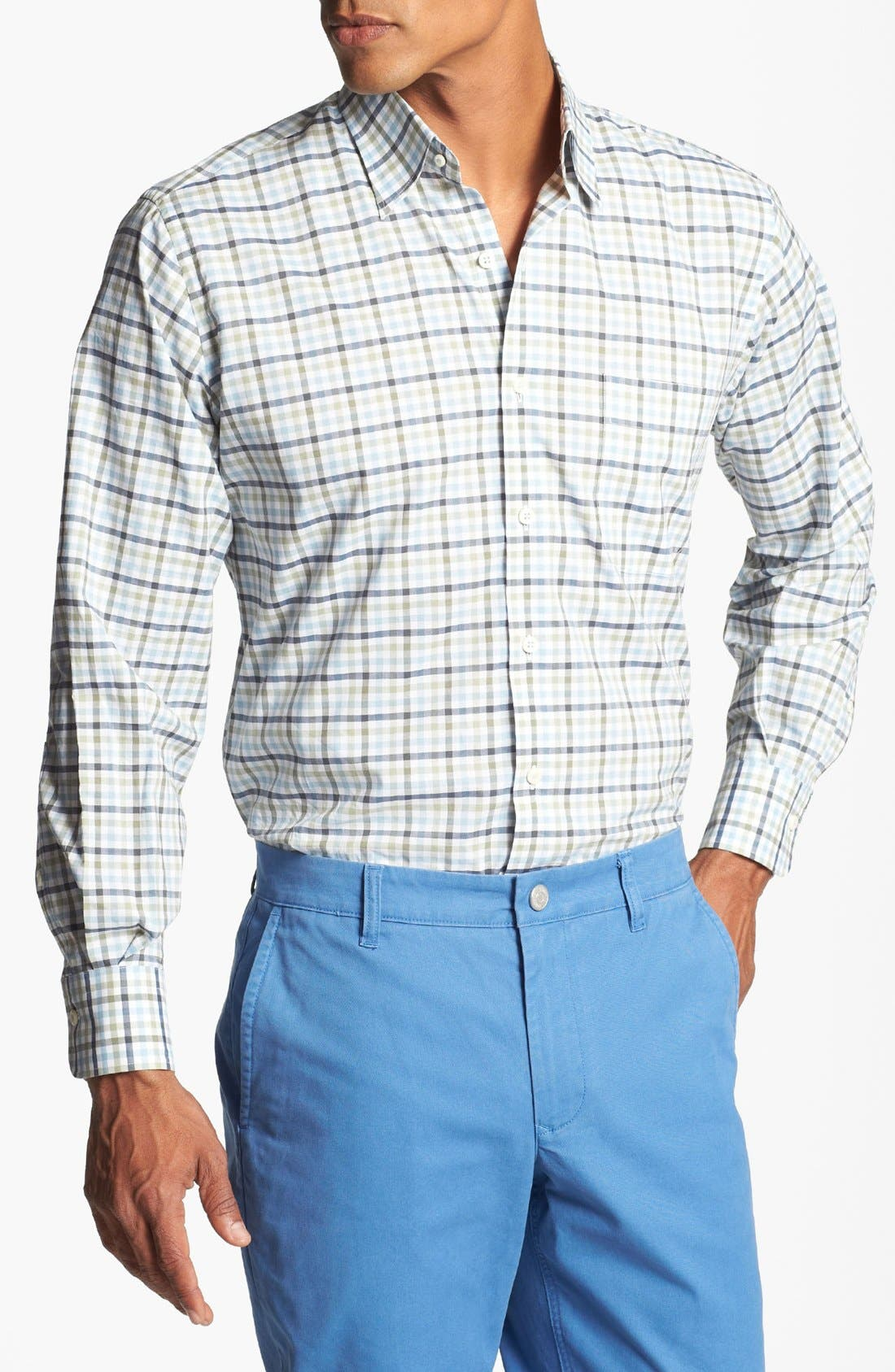 Alternate Image 1 Selected - Peter Millar Check Sport Shirt (Tall)