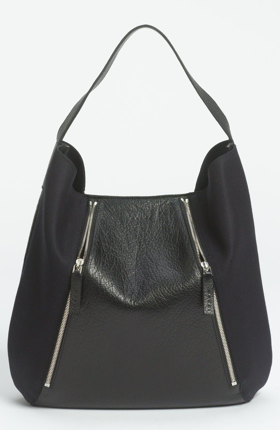 Alternate Image 1 Selected - Marni Bicolor Leather & Fabric Hobo