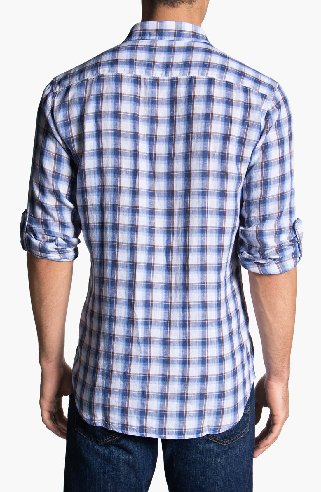 Alternate Image 2  - Toscano Linen Sport Shirt
