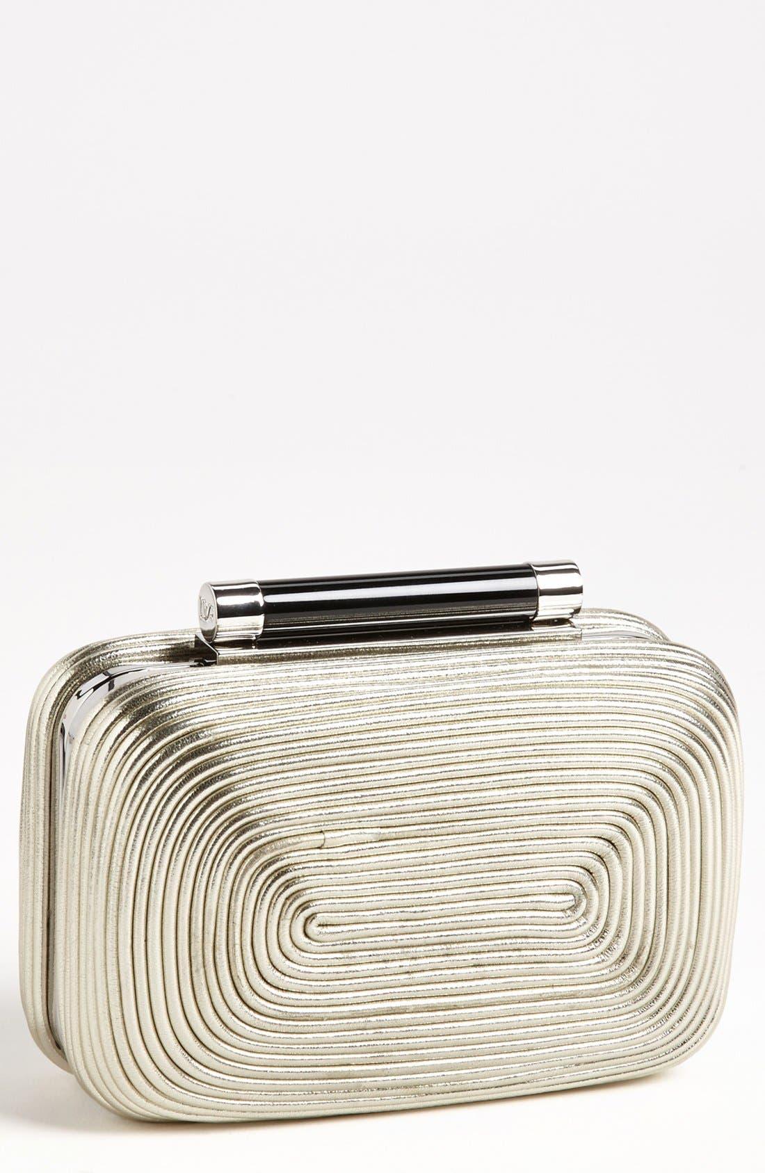 Main Image - Diane von Furstenberg 'Tonda - Small' Passementerie Metallic Clutch