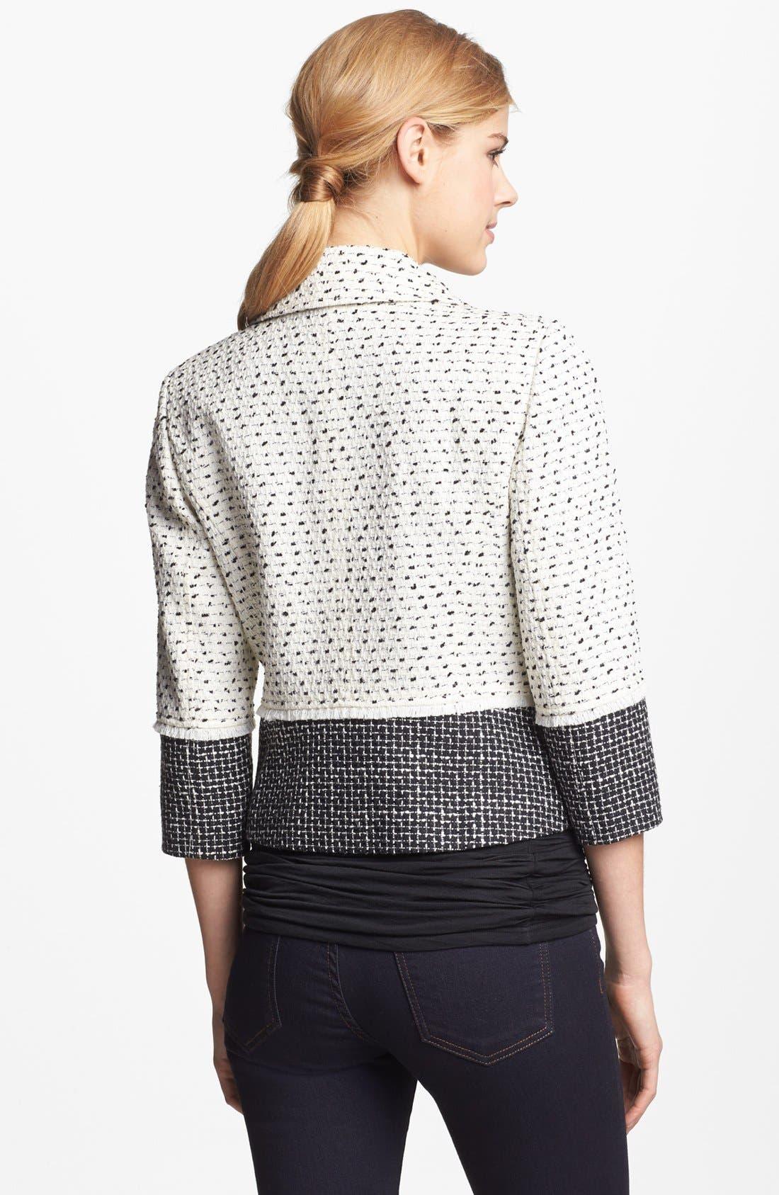 Alternate Image 2  - Halogen® Colorblock Tweed Jacket