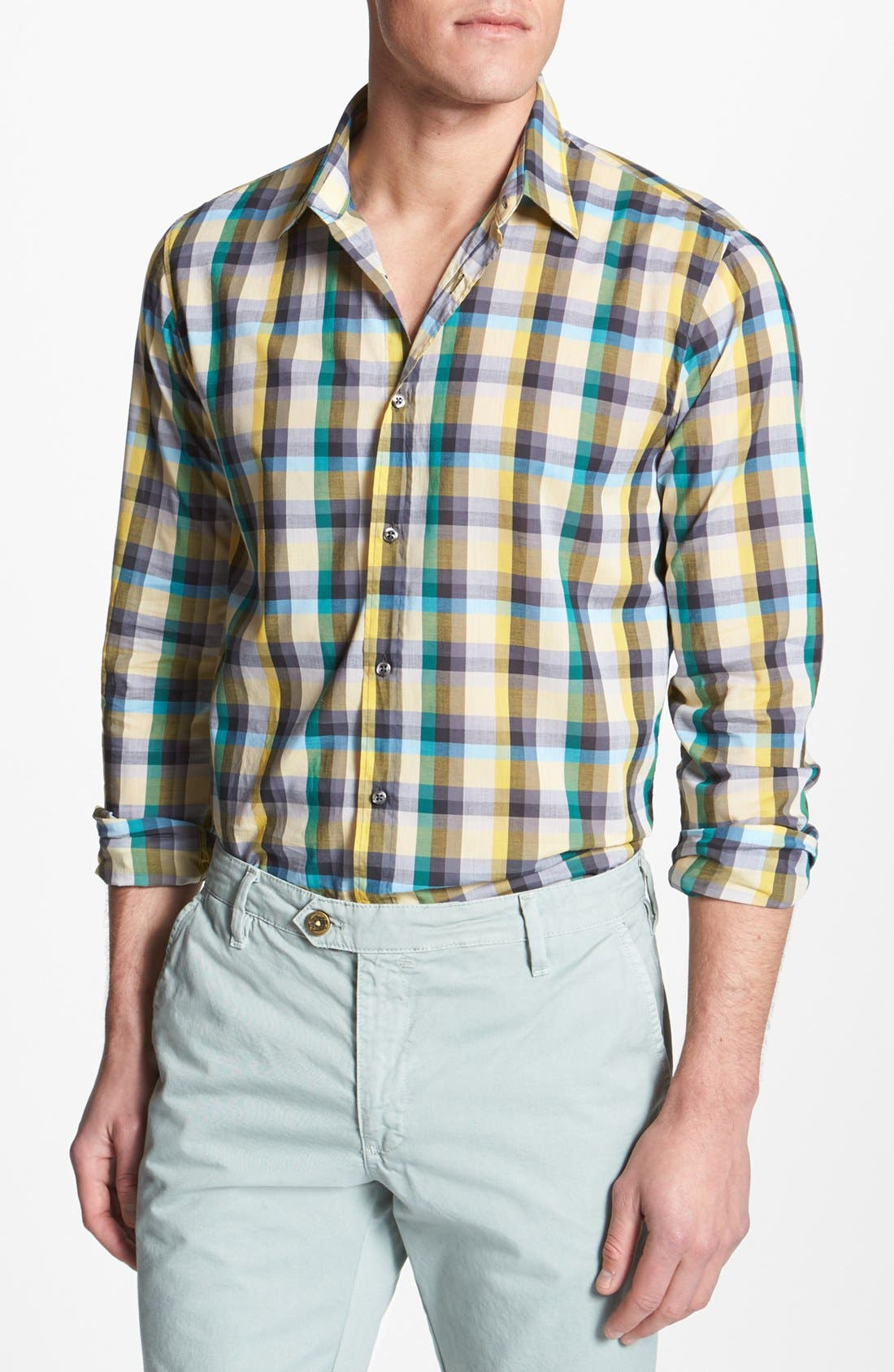 Main Image - HUGO Trim Fit Sport Shirt