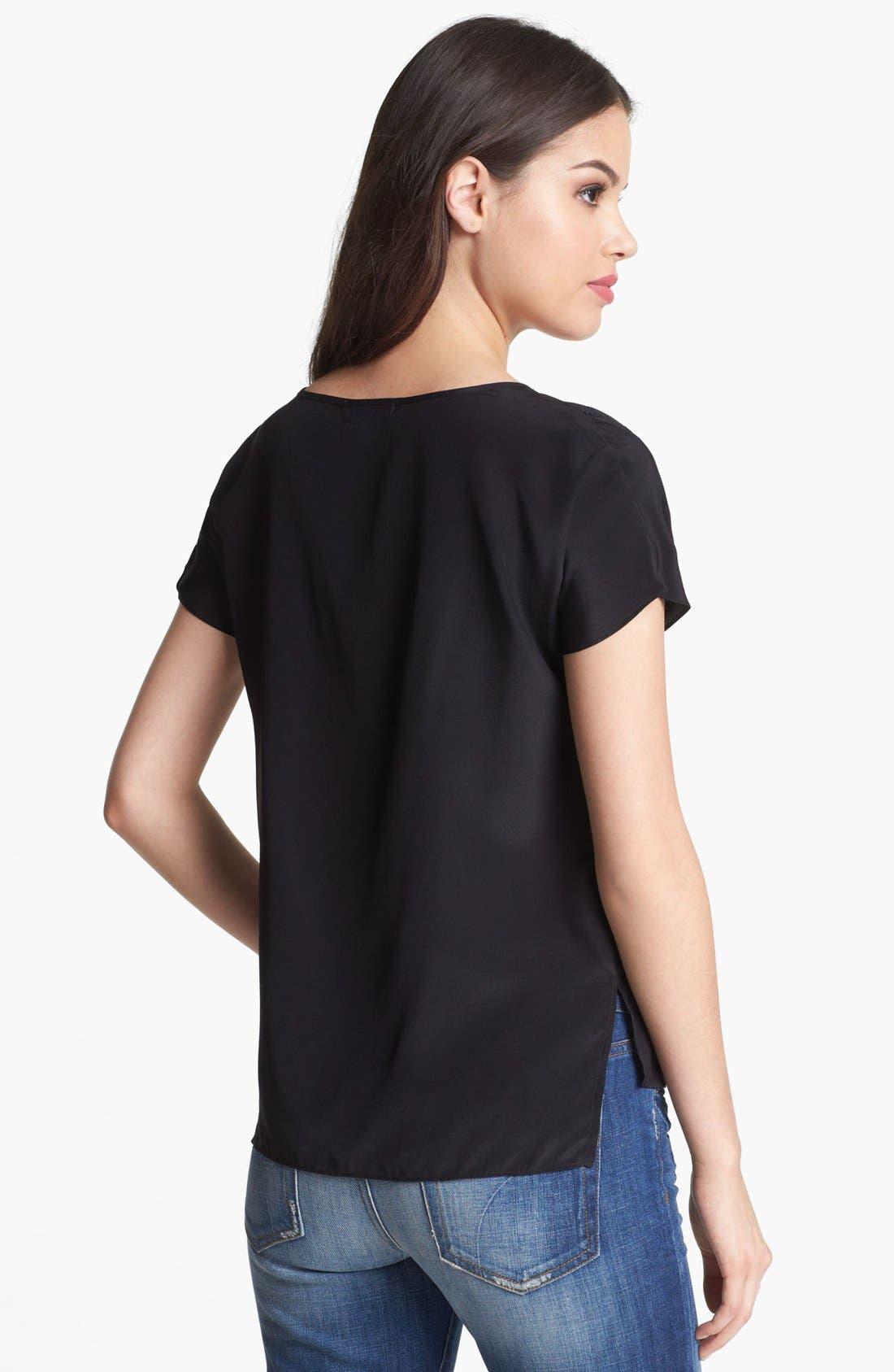 Alternate Image 2  - Ella Moss 'Tropadelic' High/Low Silk Shirt