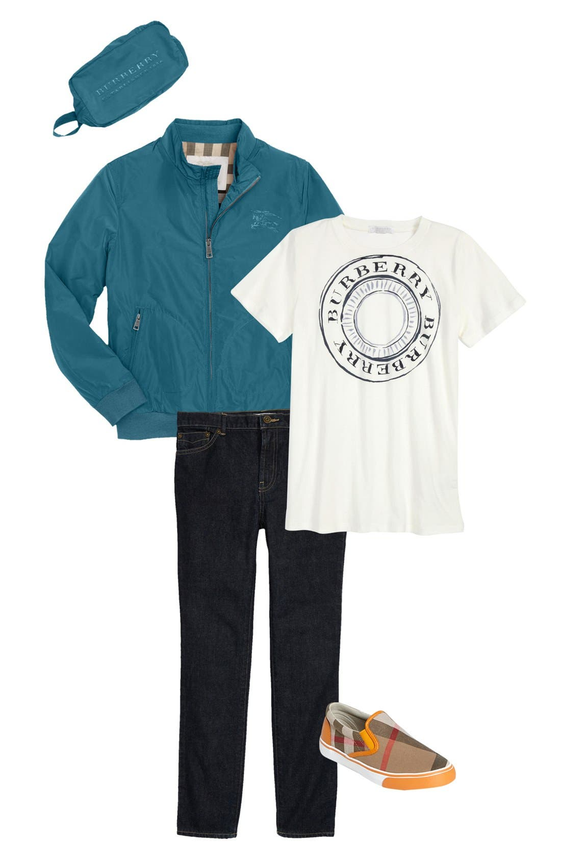 Alternate Image 1 Selected - Burberry Windbreaker & T-Shirt (Little Boys & Big Boys)