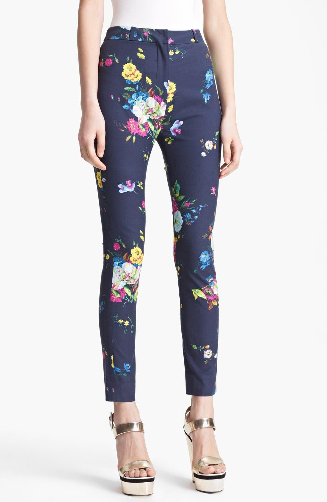 Main Image - Erdem 'Dauphine Night' Print Slim Trousers