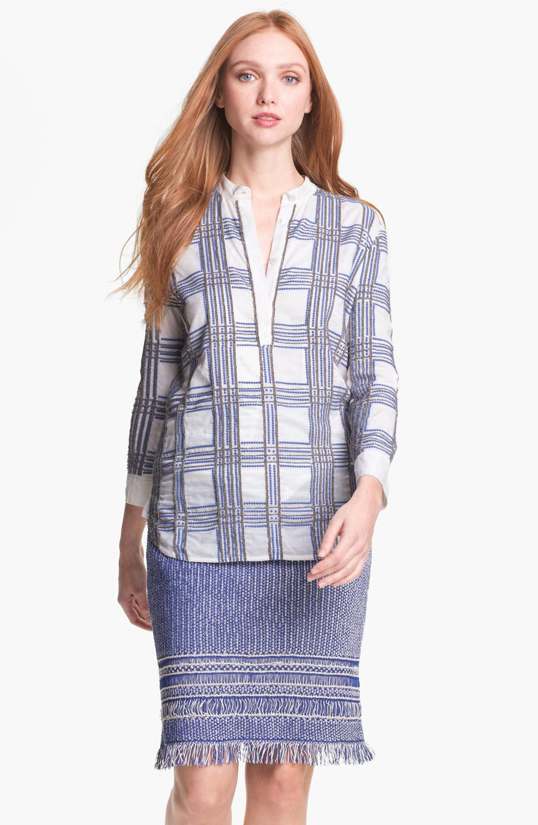 Main Image - Tory Burch 'Faye' Embellished Tunic