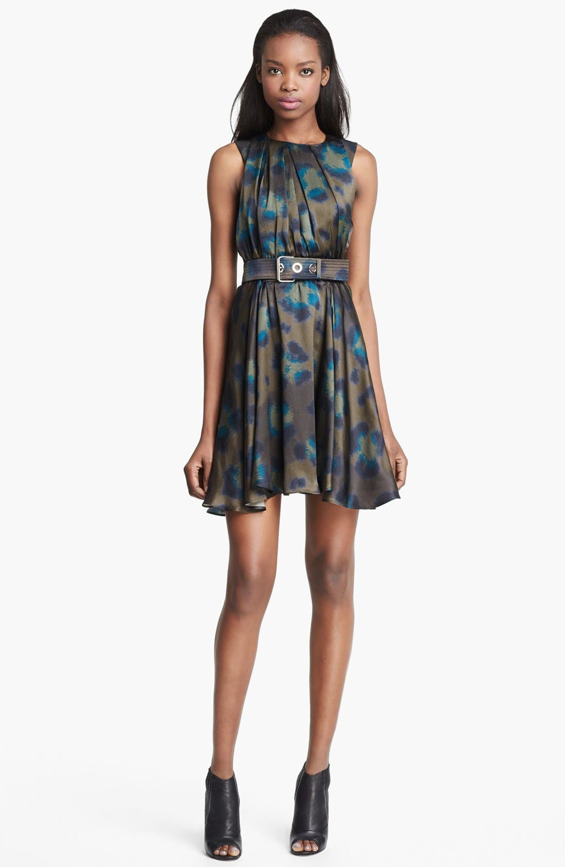 Alternate Image 1 Selected - KENZO Twist Neck Leopard Print Dress