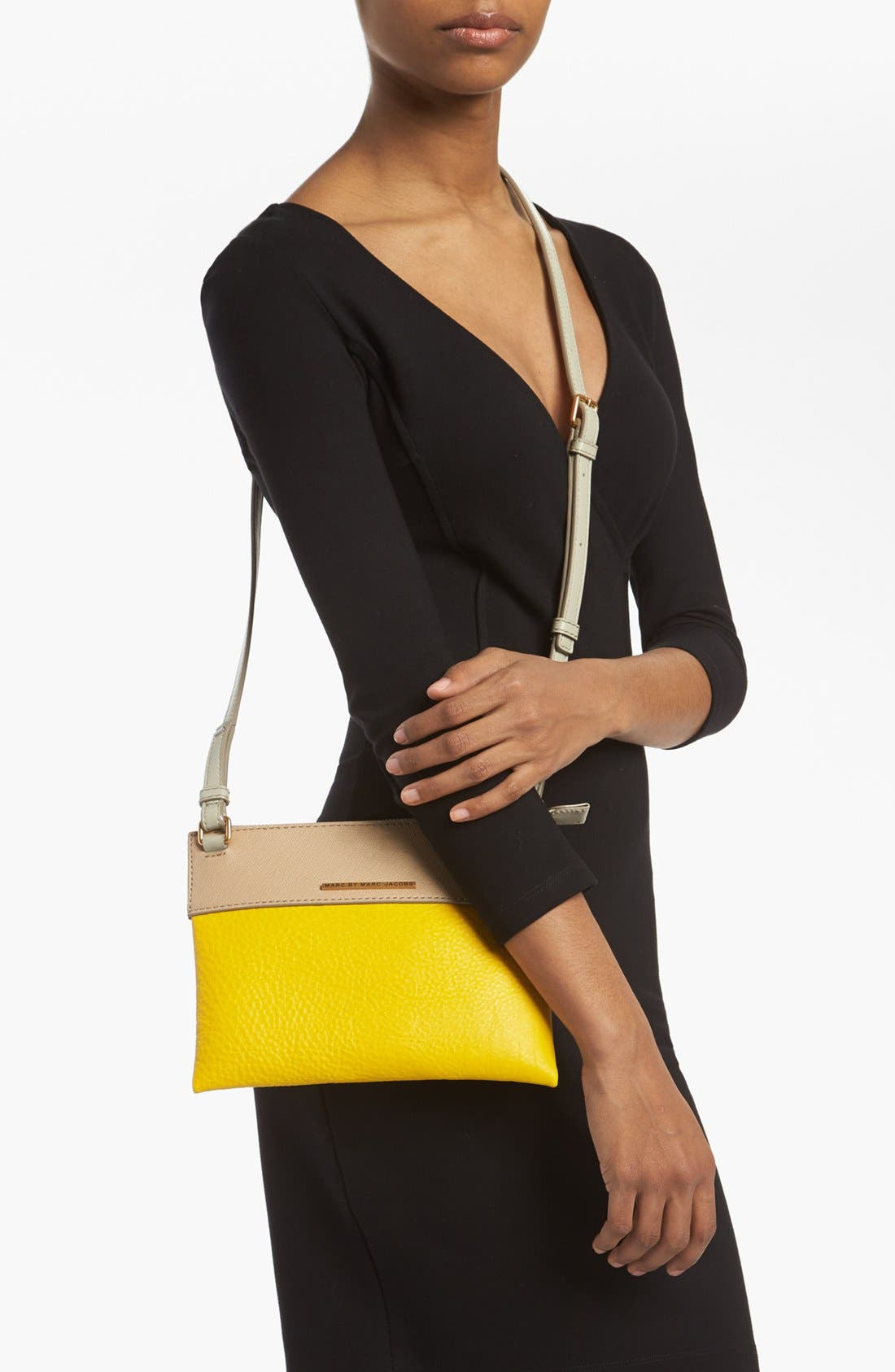 Alternate Image 2  - MARC BY MARC JACOBS 'Sheltered Island - Percy' Colorblock Leather Crossbody Bag, Small