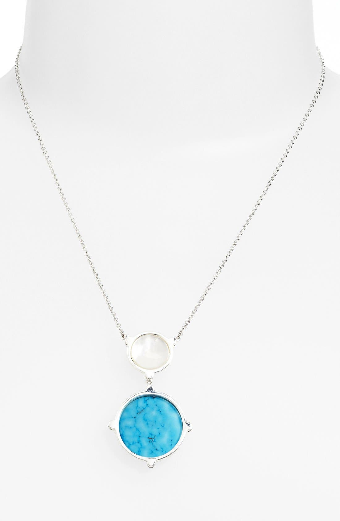 Alternate Image 1 Selected - Judith Jack 'Coin' Double Drop Pendant Necklace