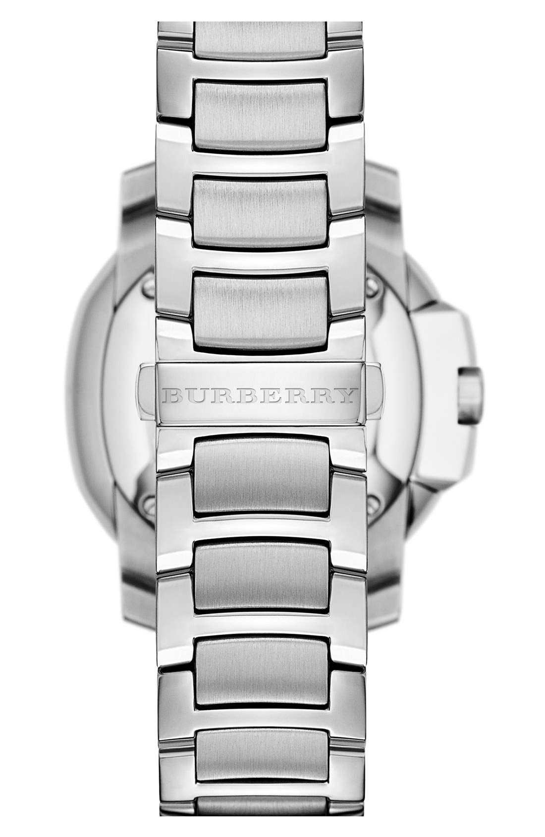 Alternate Image 4  - Burberry The Britain Mother-of-Pearl Bracelet Watch, 38mm