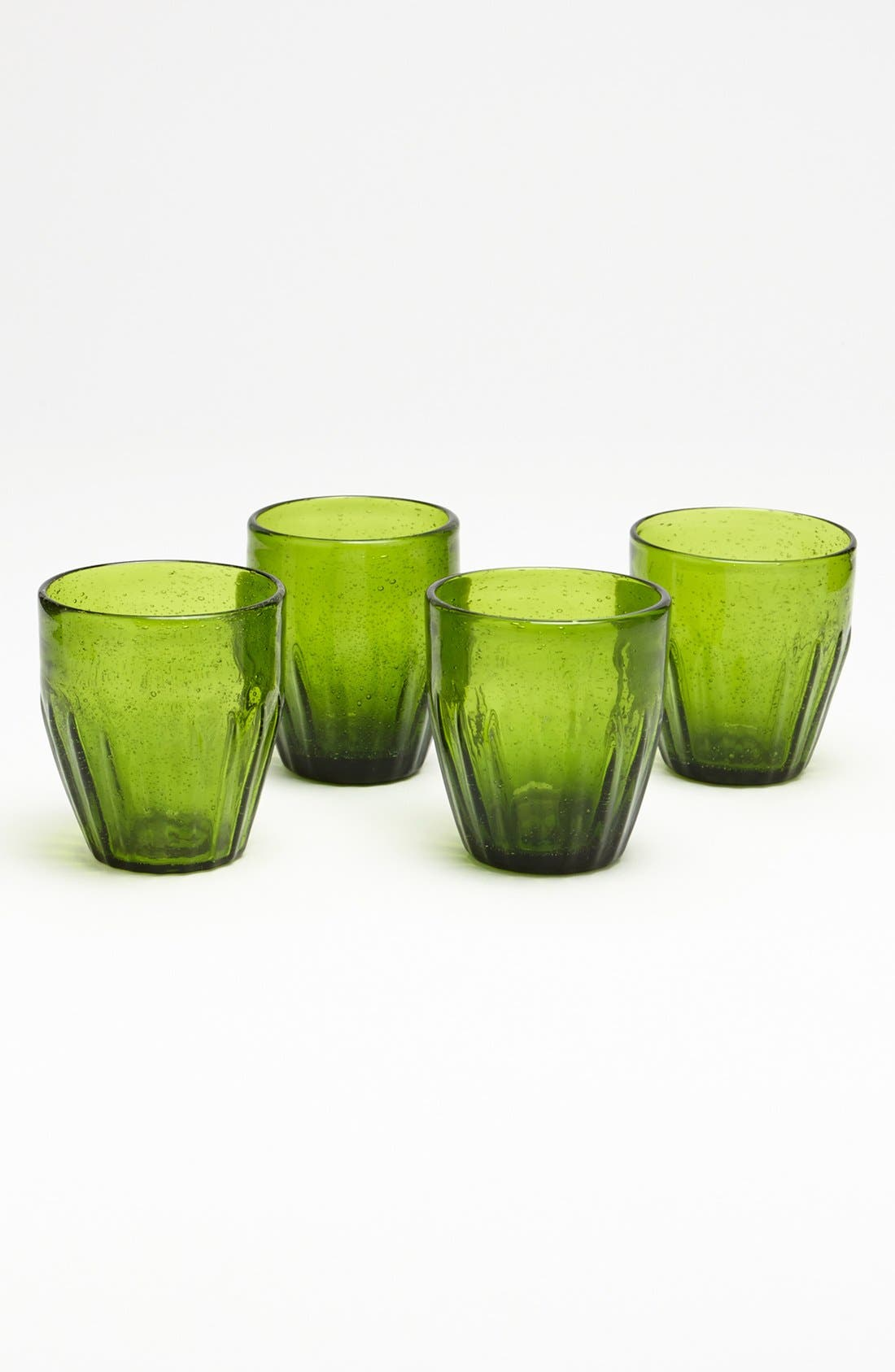 Alternate Image 1 Selected - Rustic Green Glass Tumblers (Set of 4)