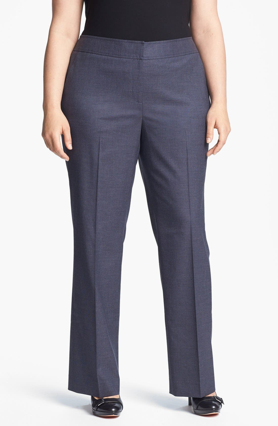 Alternate Image 1 Selected - Sejour 'Gilda' Curvy Fit Trouser (Plus Size)