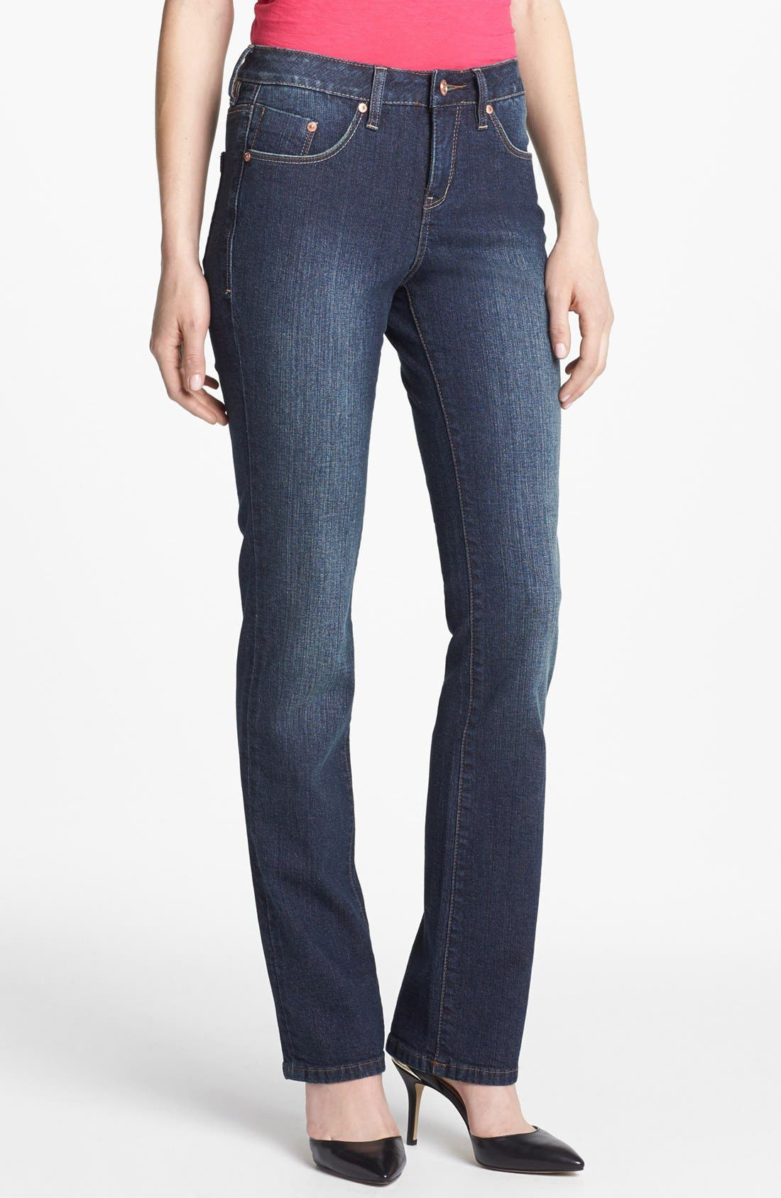 Alternate Image 1 Selected - Jag Jeans 'Foster' Bootcut Jeans (Blue English) (Petite)