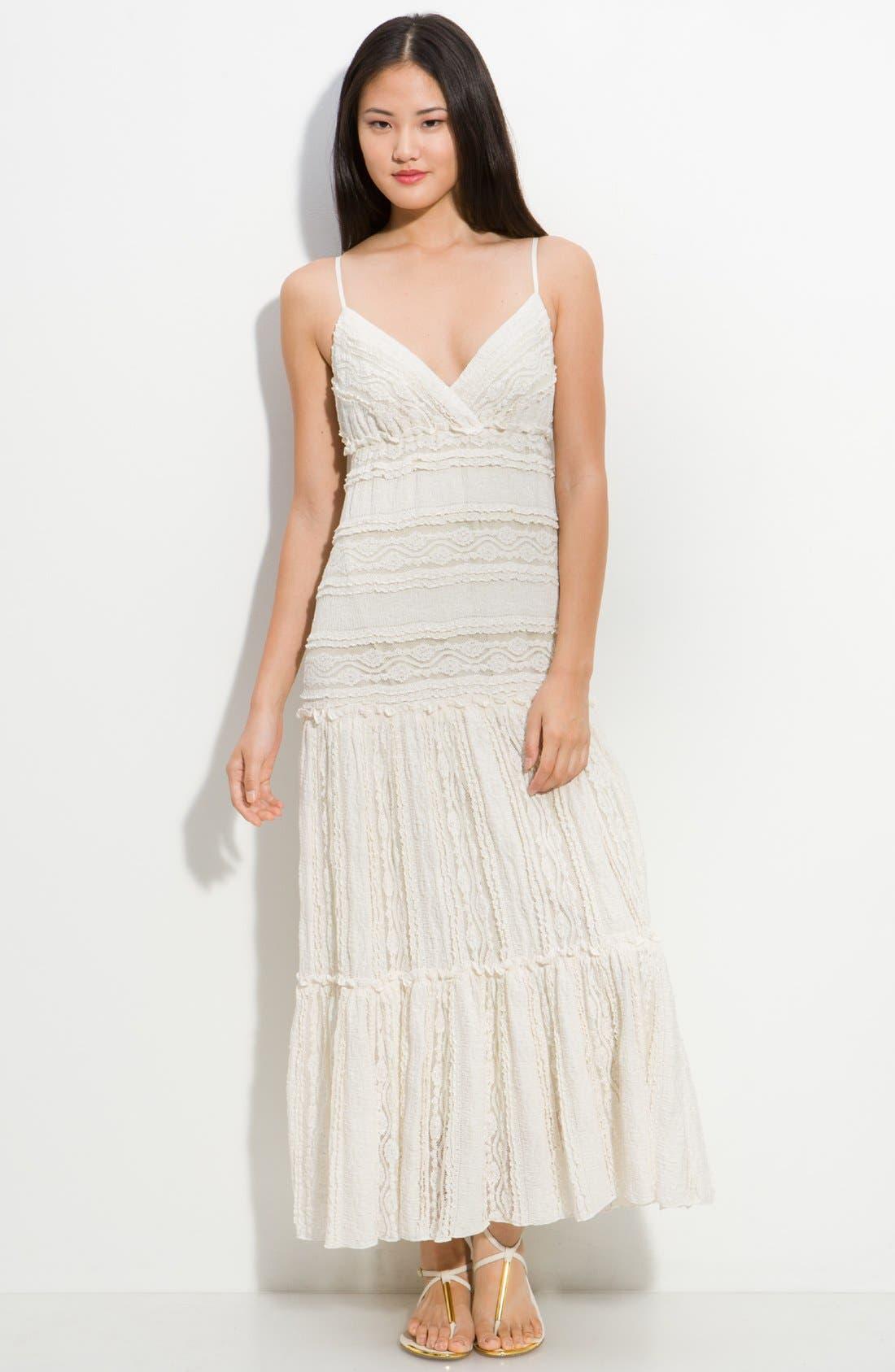 Main Image - Eliza J Tiered Lace Maxi Dress