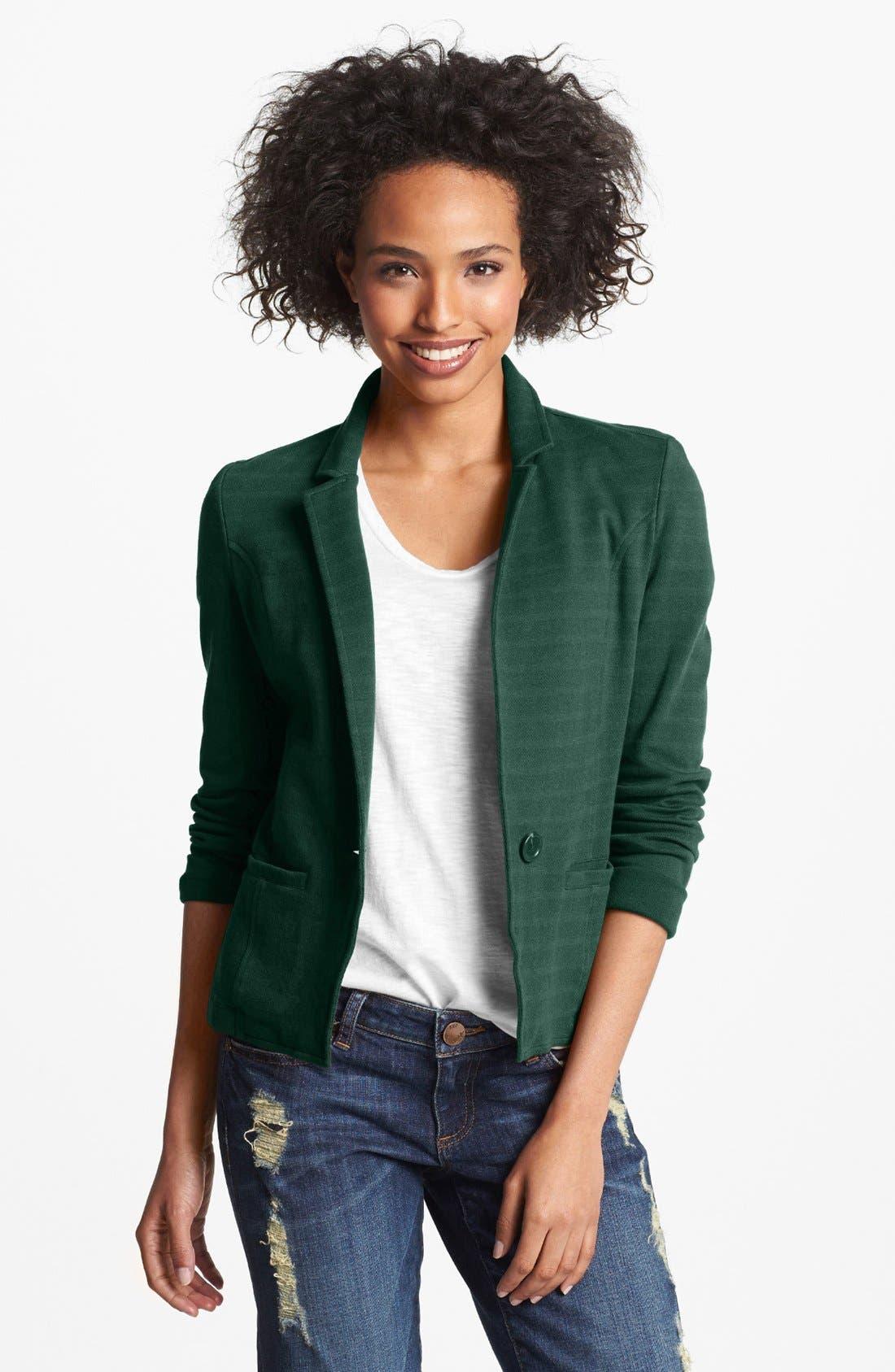 Alternate Image 1 Selected - Caslon® Cotton Knit Blazer
