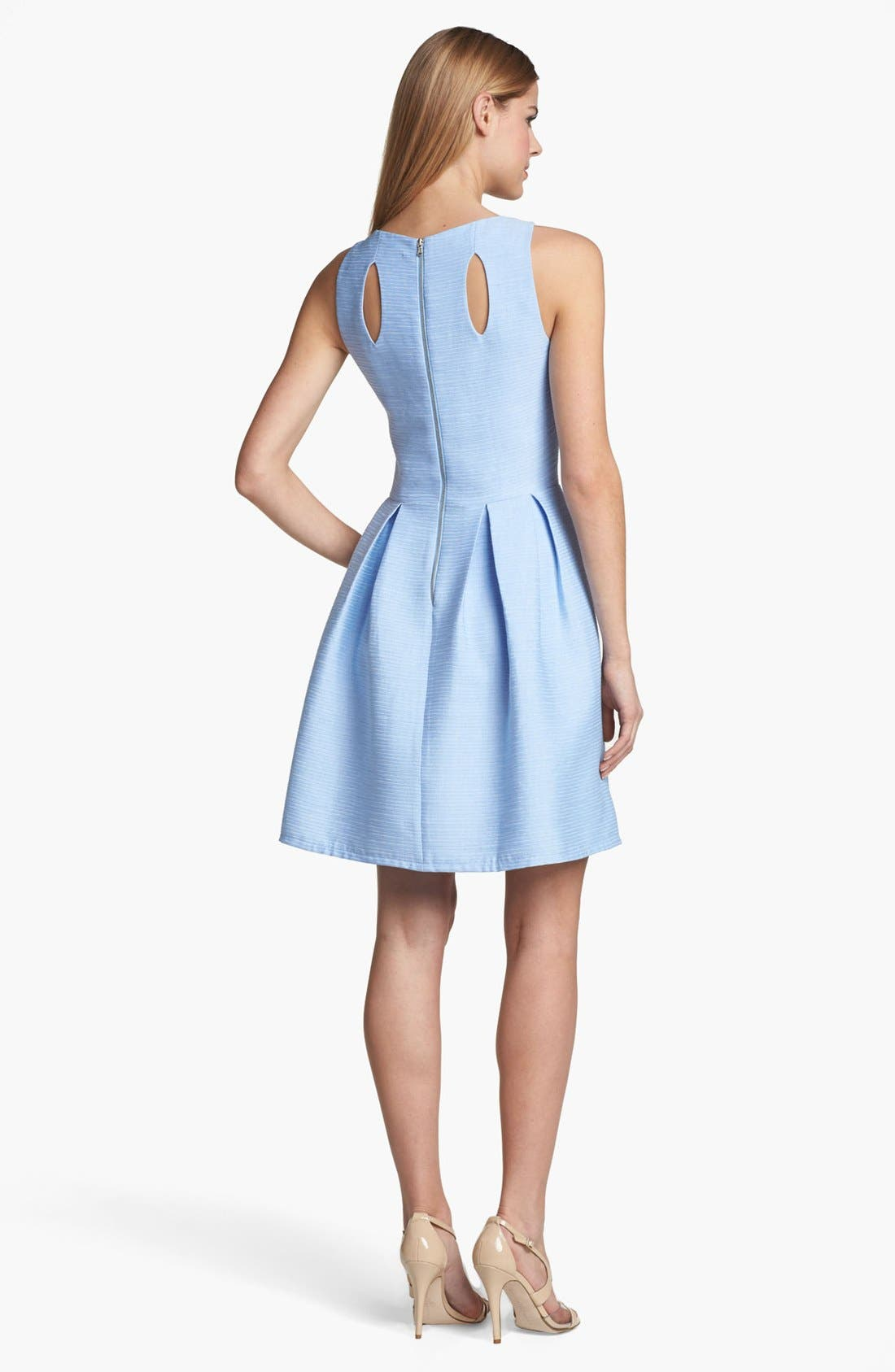 Alternate Image 2  - Taylor Dresses Cutout Detail Fit & Flare Dress