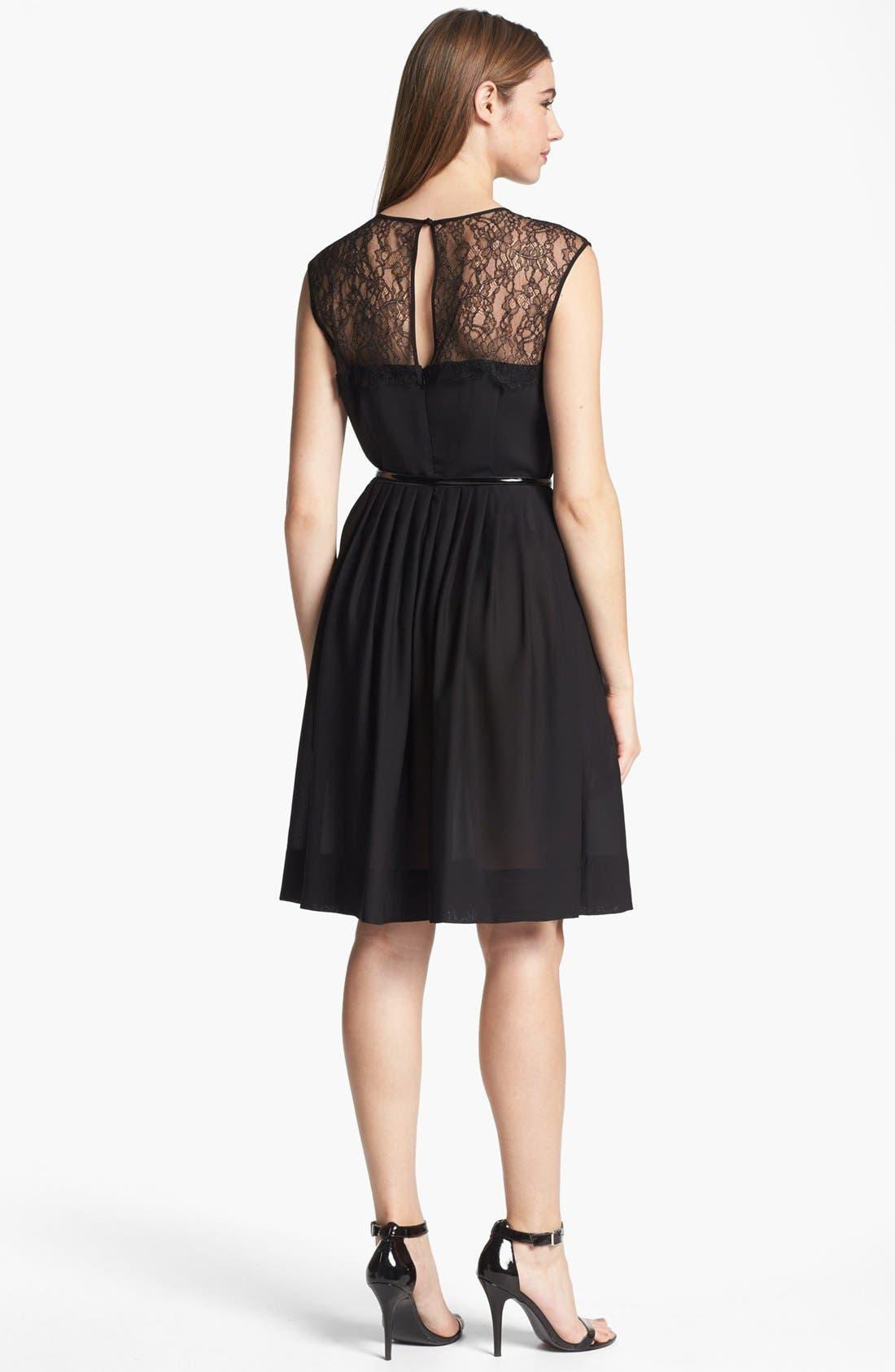 Alternate Image 2  - Calvin Klein Lace Fit & Flare Dress