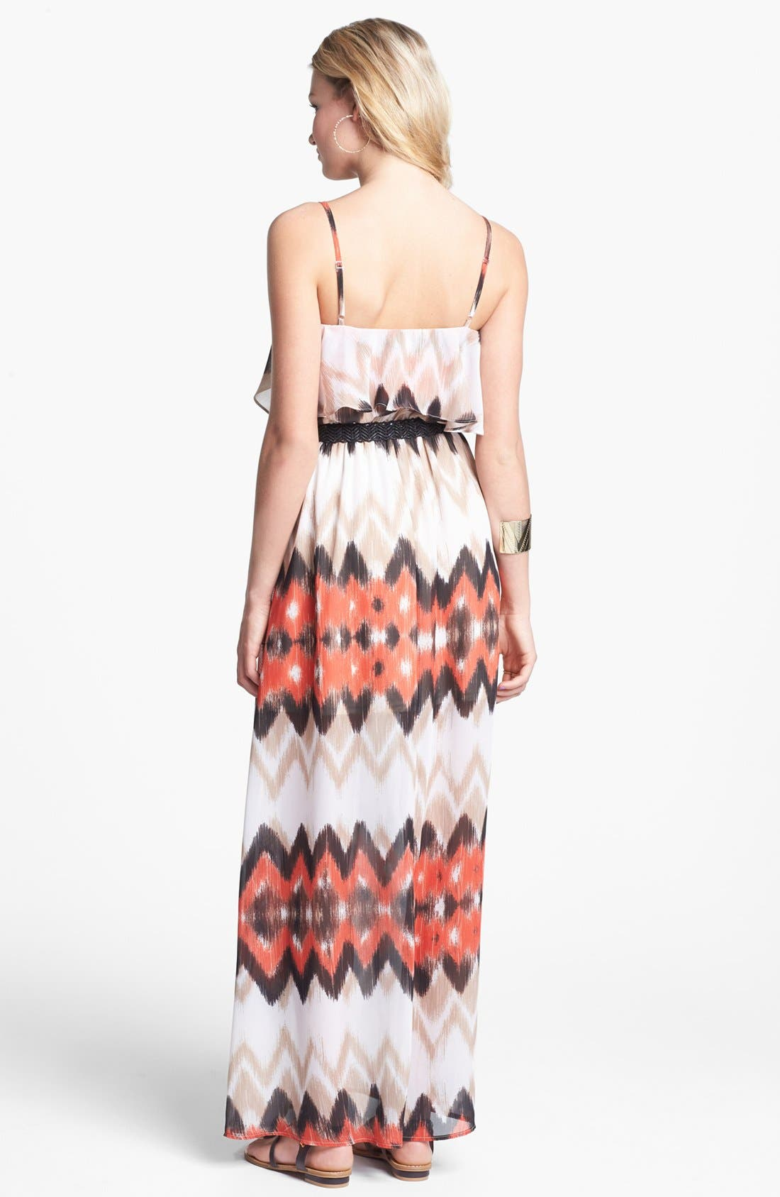 Alternate Image 2  - As U Wish Ruffle Maxi Dress (Juniors) (Online Only)