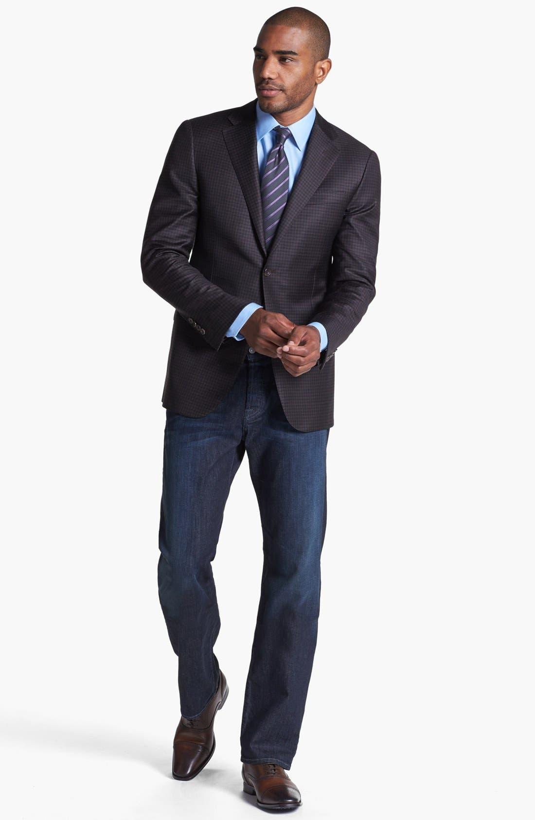 Alternate Image 5  - 7 For All Mankind® 'Standard' Straight Leg Jeans (Castaic Lake)