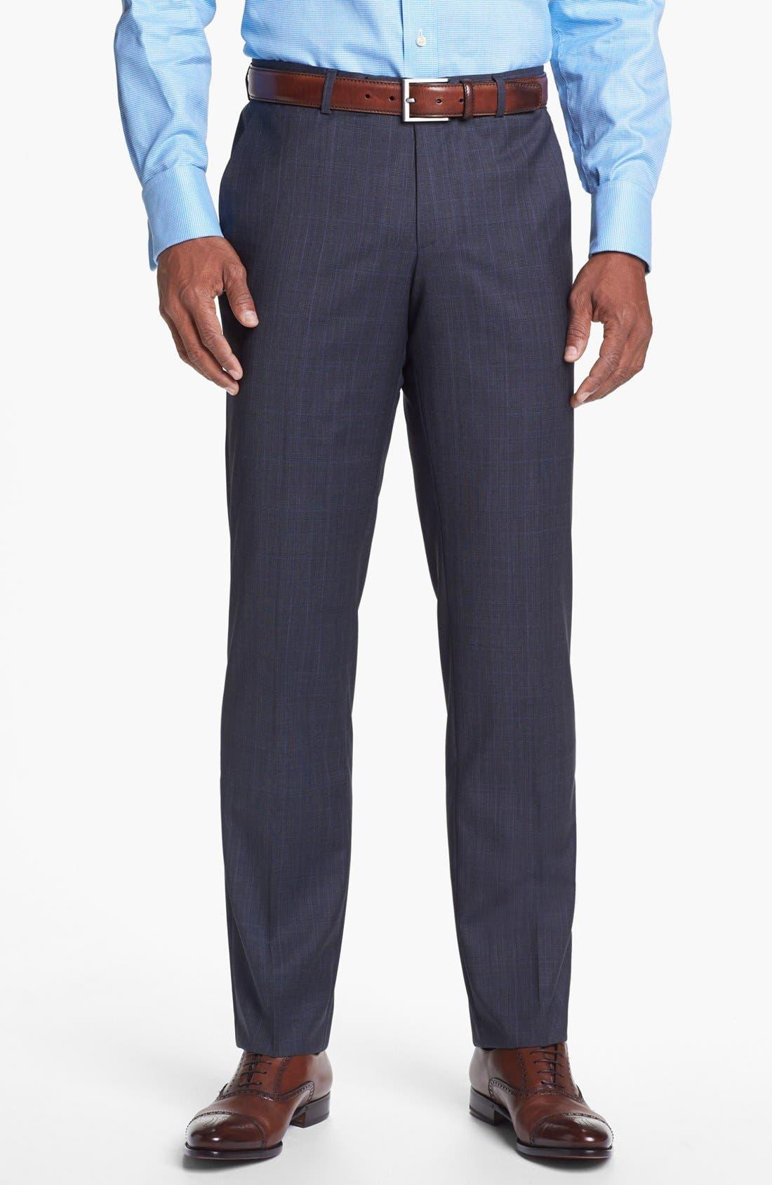 Alternate Image 5  - BOSS HUGO BOSS 'James/Sharp' Trim Fit Plaid Suit
