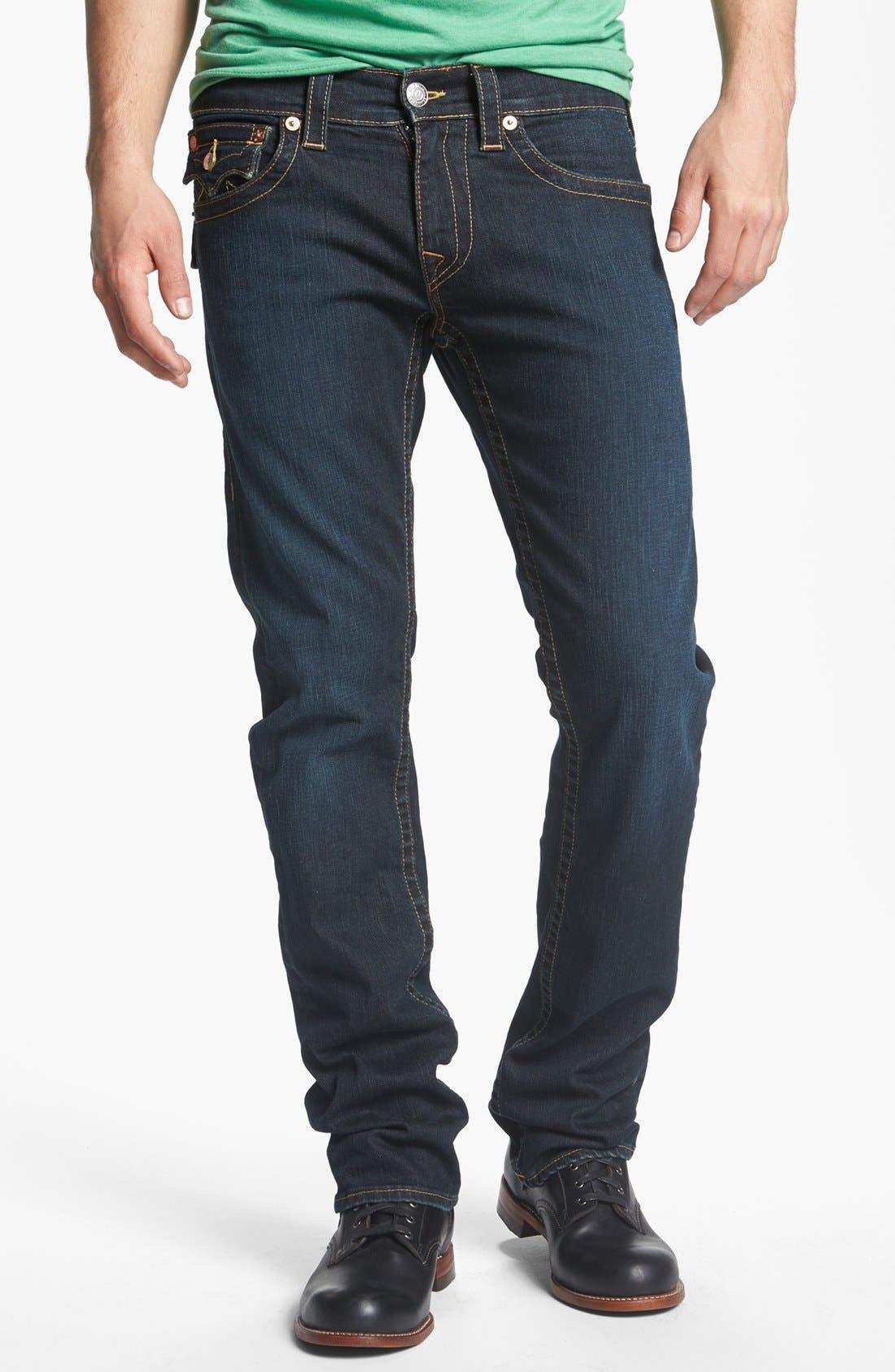 Alternate Image 2  - True Religion Brand Jeans 'Ricky' Straight Leg Jeans (Jackknife)