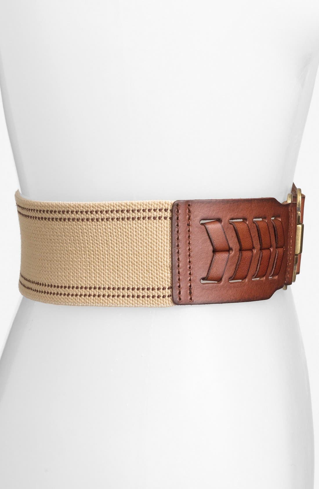 Alternate Image 2  - Fossil Laced Stretch Belt