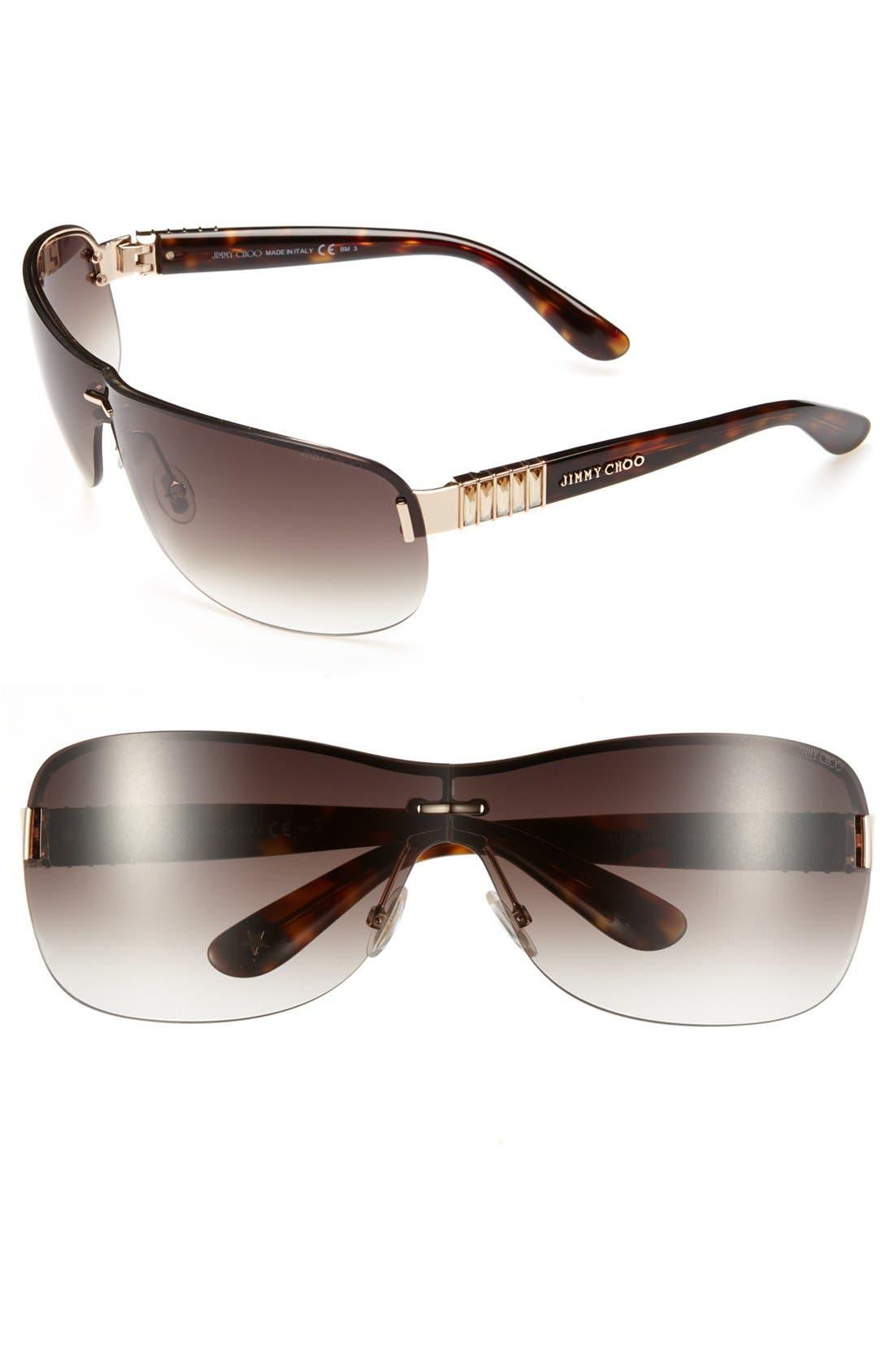 Alternate Image 1 Selected - Jimmy Choo 'Flo' 76mm Sunglasses