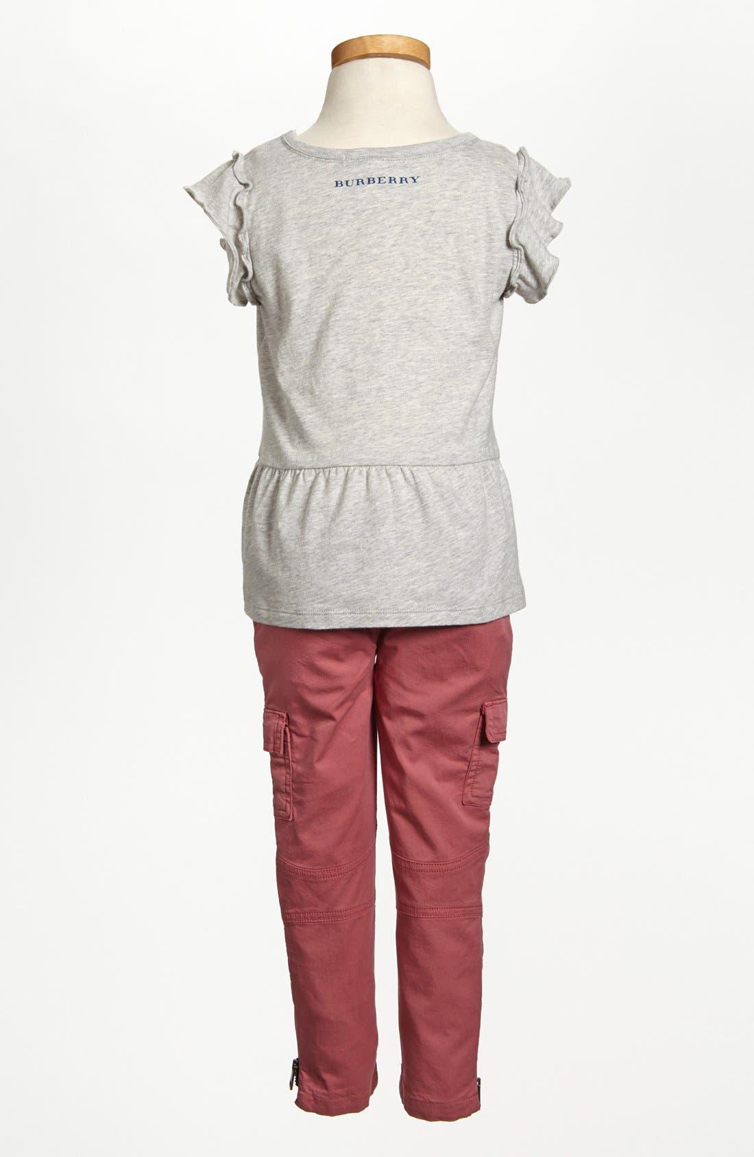 Alternate Image 3  - Burberry 'Cloudy' Peplum Ruffle Top (Toddler Girls, Little Girls & Big Girls)