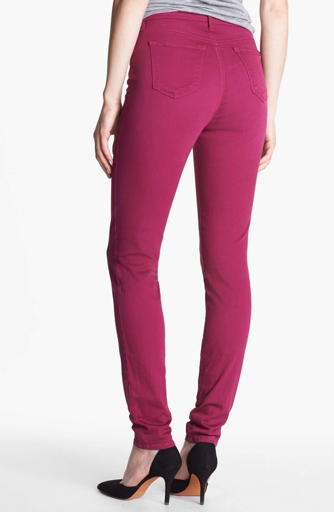 Alternate Image 2  - J Brand 'Maria' High Waist Skinny Stretch Jeans (Washed Loganberry)