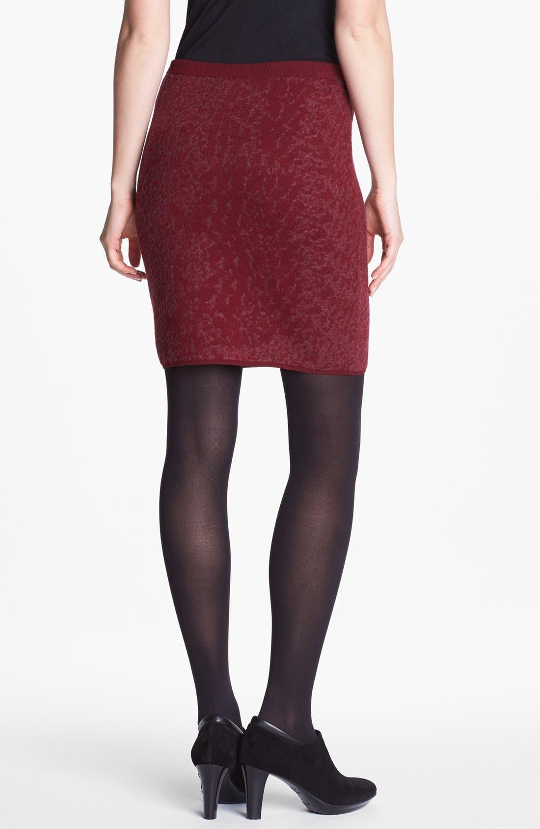 Alternate Image 2  - Eileen Fisher Shadow Felted Merino Blend Skirt (Regular & Petite)