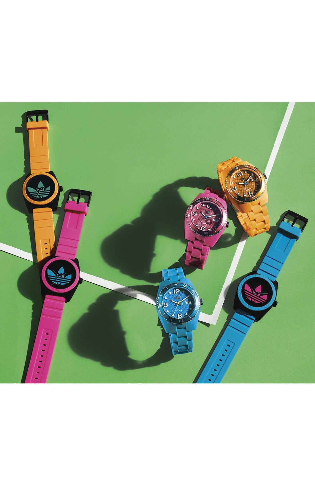 Alternate Image 2  - adidas Originals 'Brisbane' Silicone Bracelet Watch, 42mm