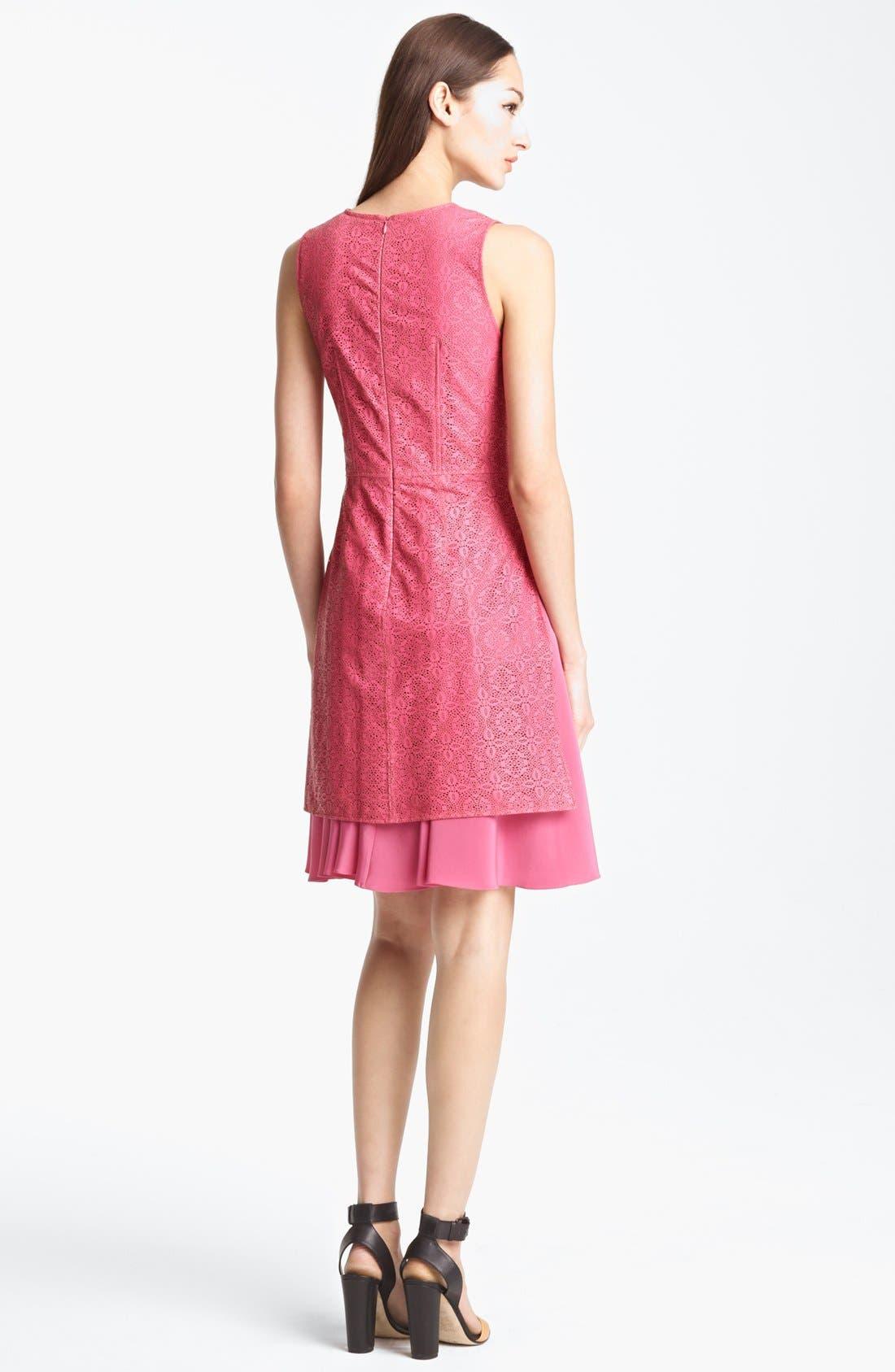 Alternate Image 2  - Thakoon Laser Cut Leather Dress