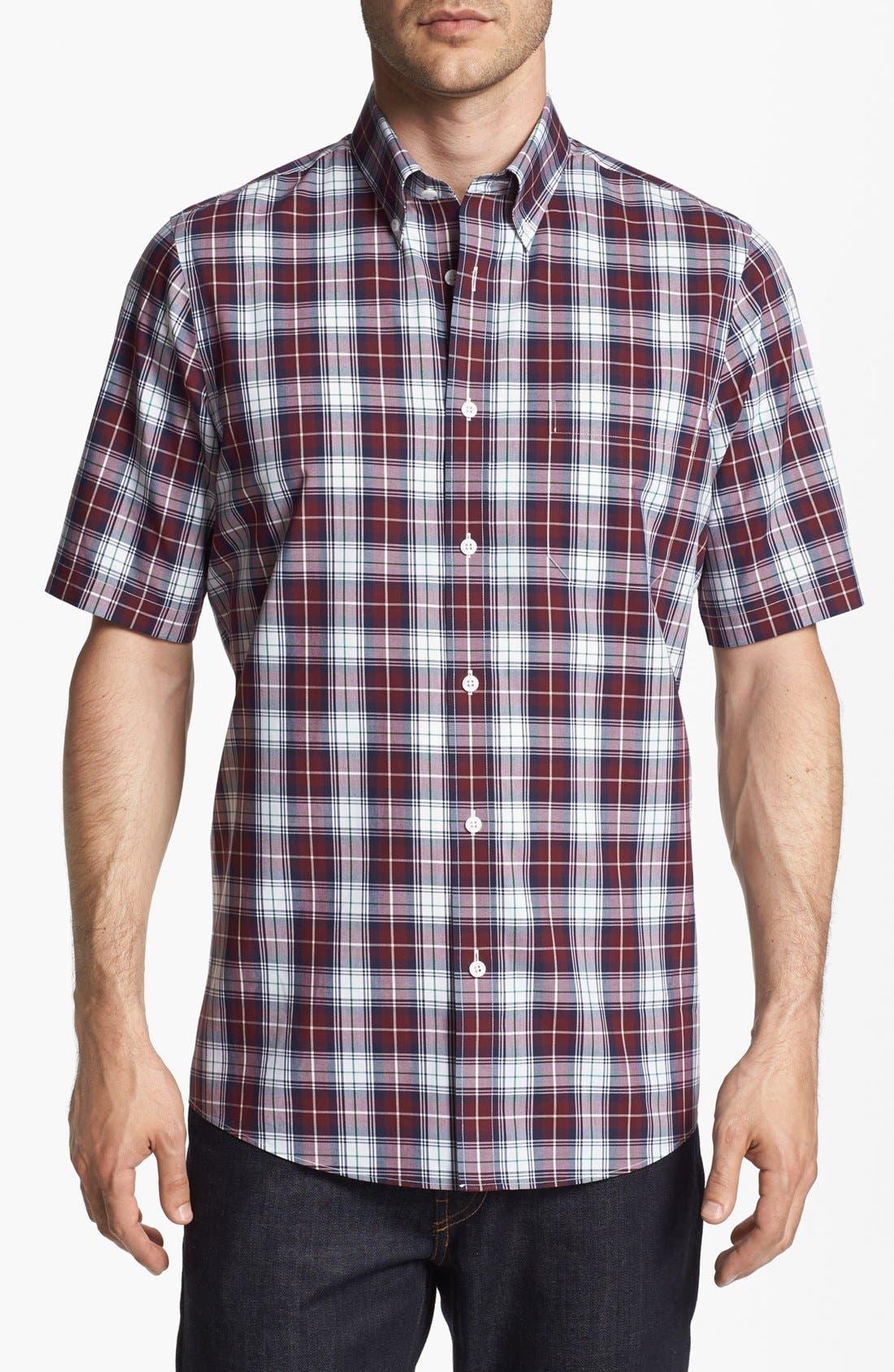 Main Image - Nordstrom Smartcare™ Regular Fit Poplin Sport Shirt