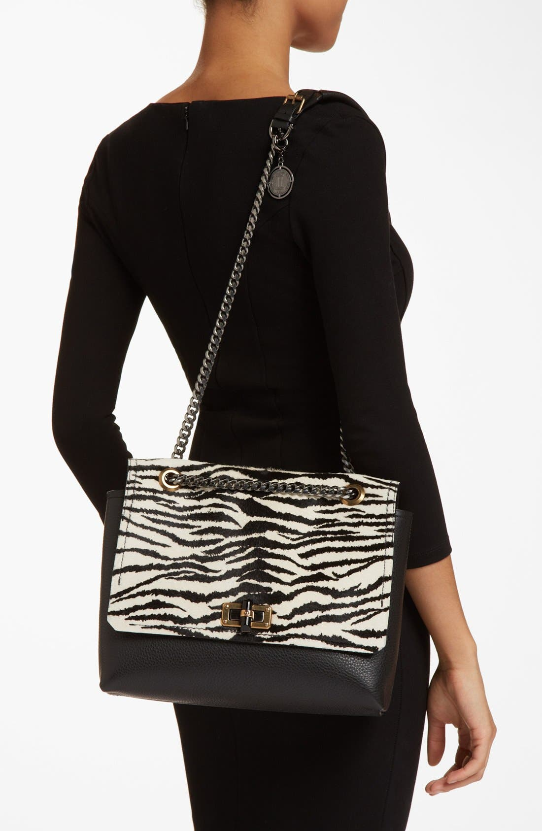 Alternate Image 2  - Lanvin 'Happy Zebra' Calf Hair Flap Shoulder Bag