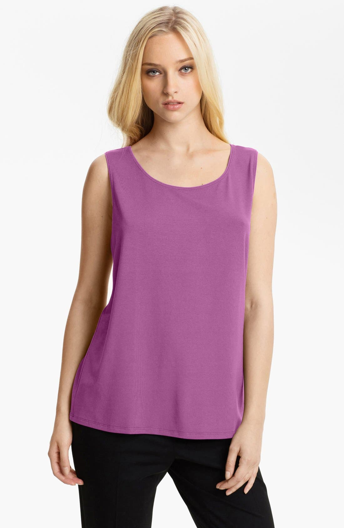 Alternate Image 1 Selected - Eileen Fisher Scoop Neck Tank