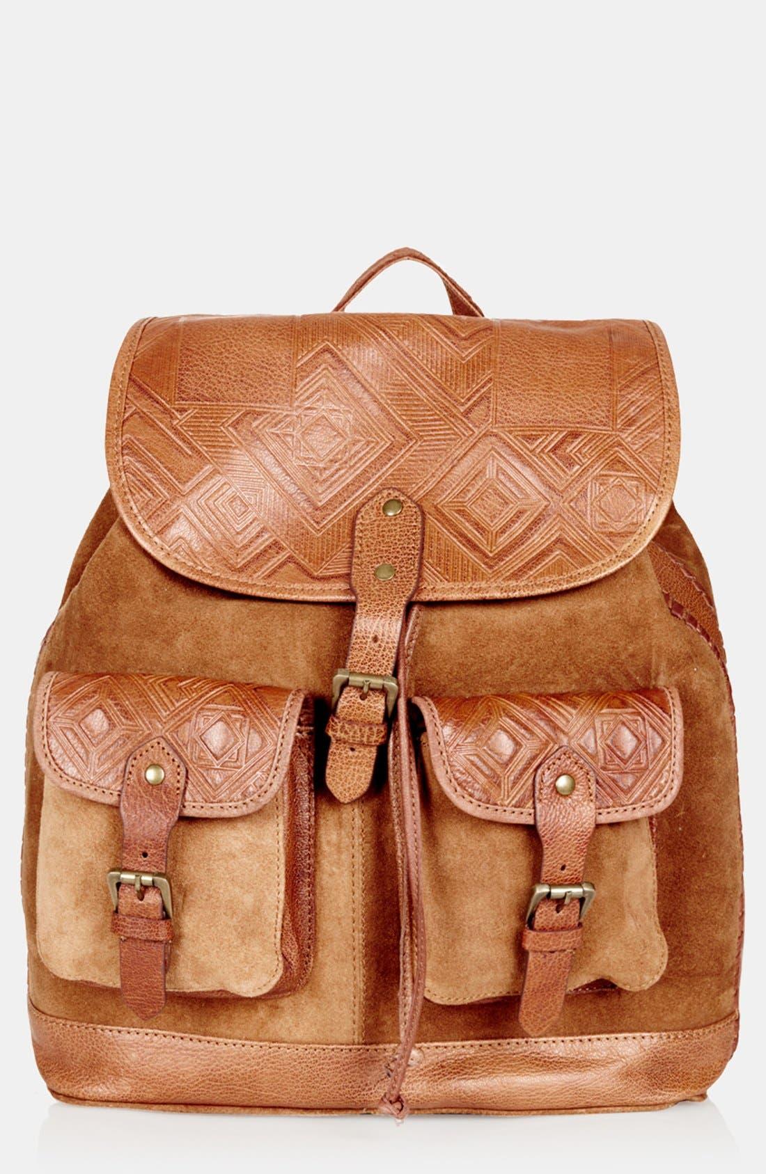 Alternate Image 1 Selected - Topshop Suede Backpack