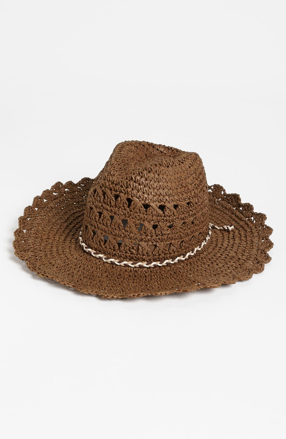 Main Image - Tarnish Crochet Cowboy Hat