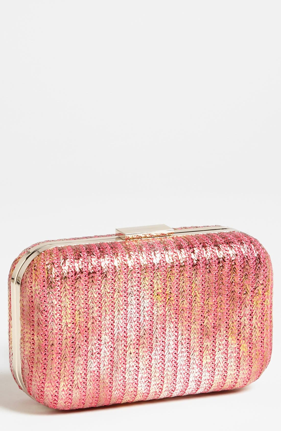 Main Image - Expressions NYC Metallic Box Clutch