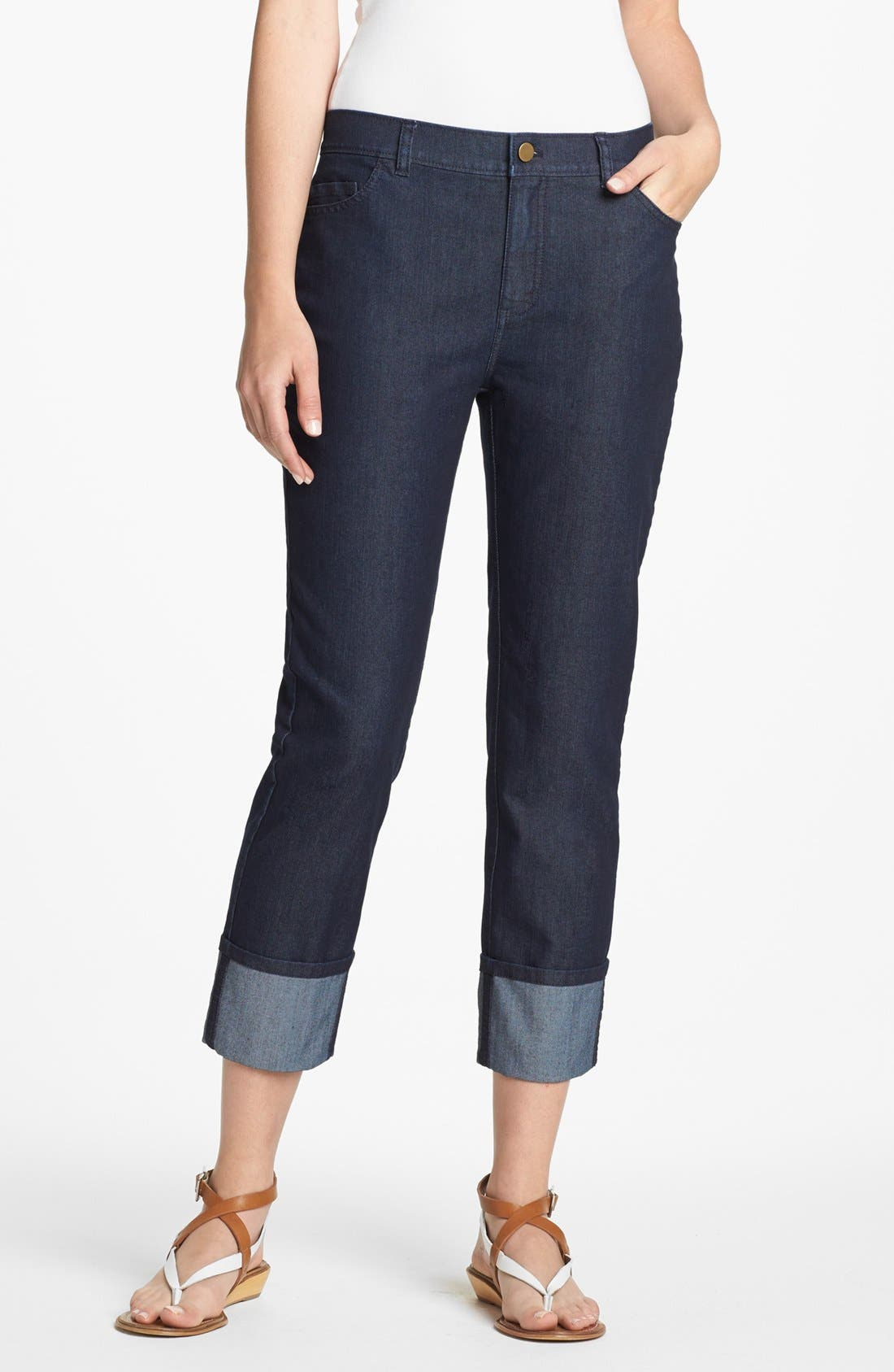 Main Image - Lafayette 148 New York Curvy Fit Crop Jeans