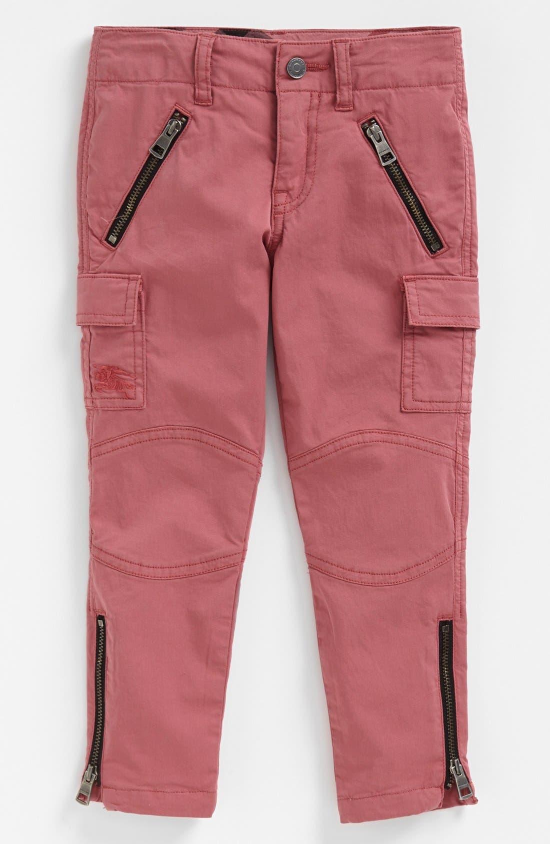 Main Image - Burberry Ruffle Top & Cargo Pants (Little Girls & Big Girls)
