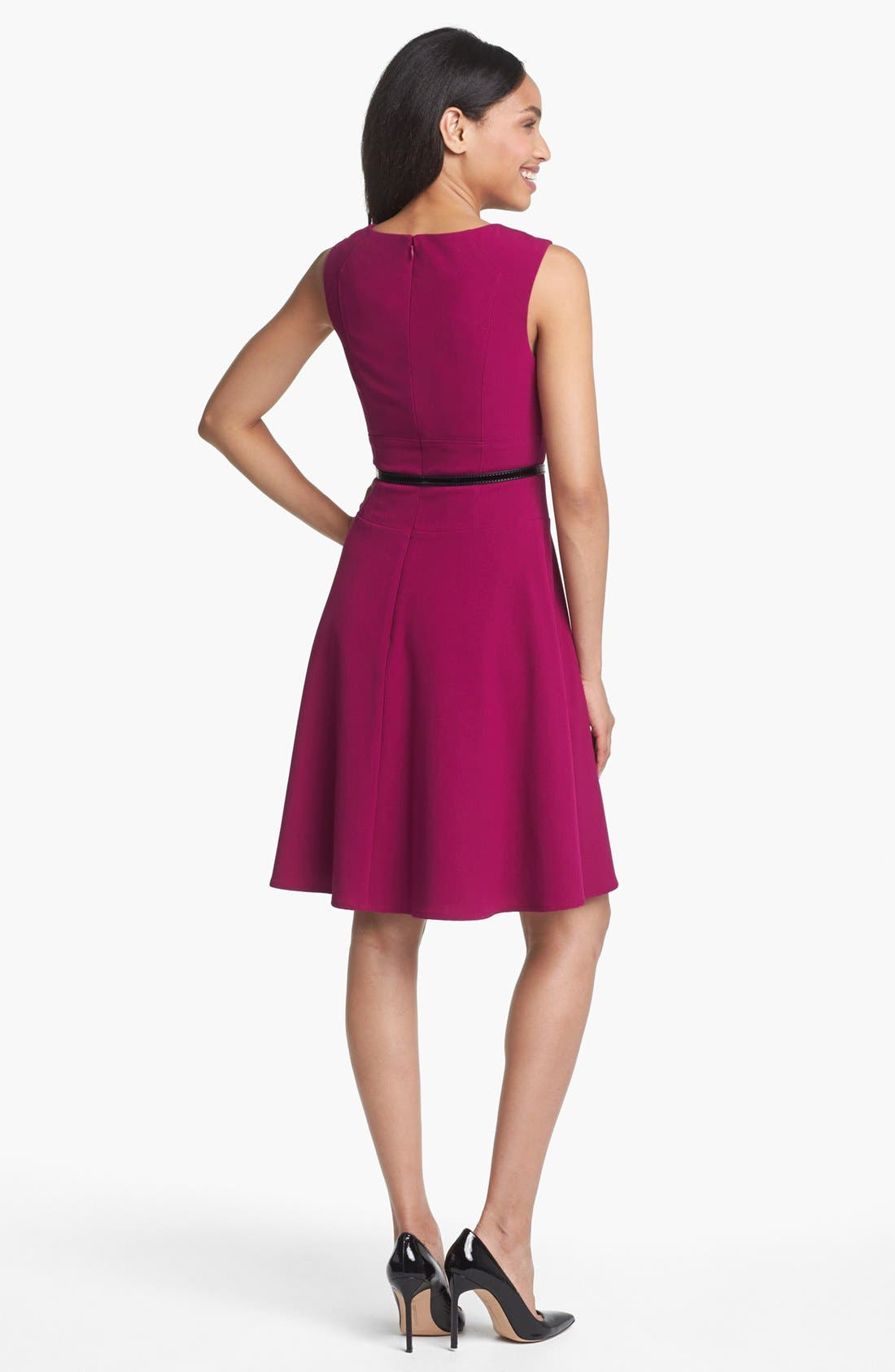 Alternate Image 2  - Marc New York by Andrew Marc Seamed Fit & Flare Dress
