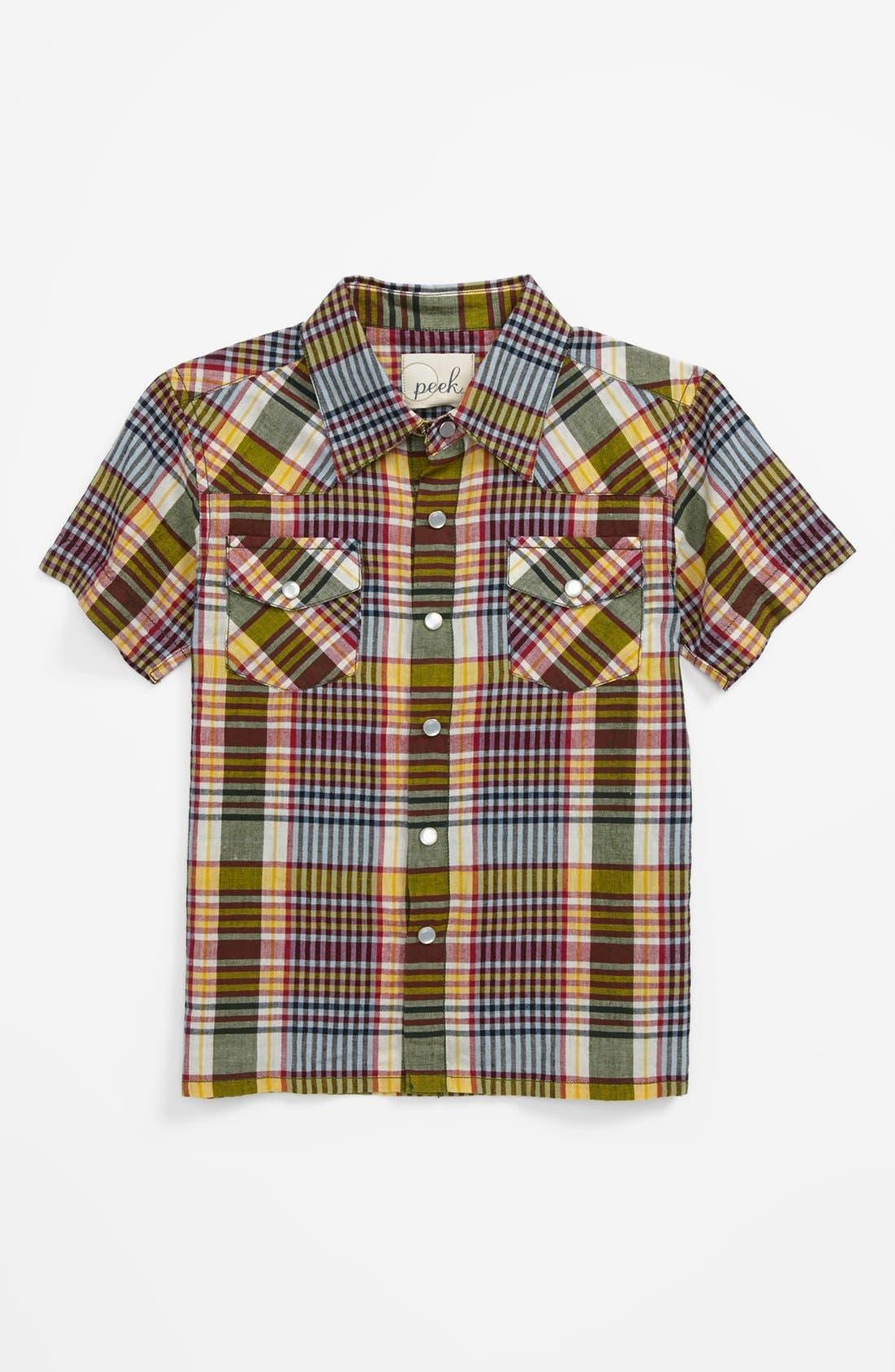 Alternate Image 1 Selected - Peek 'Wyatt' Western Shirt (Toddler Boys, Little Boys & Big Boys)