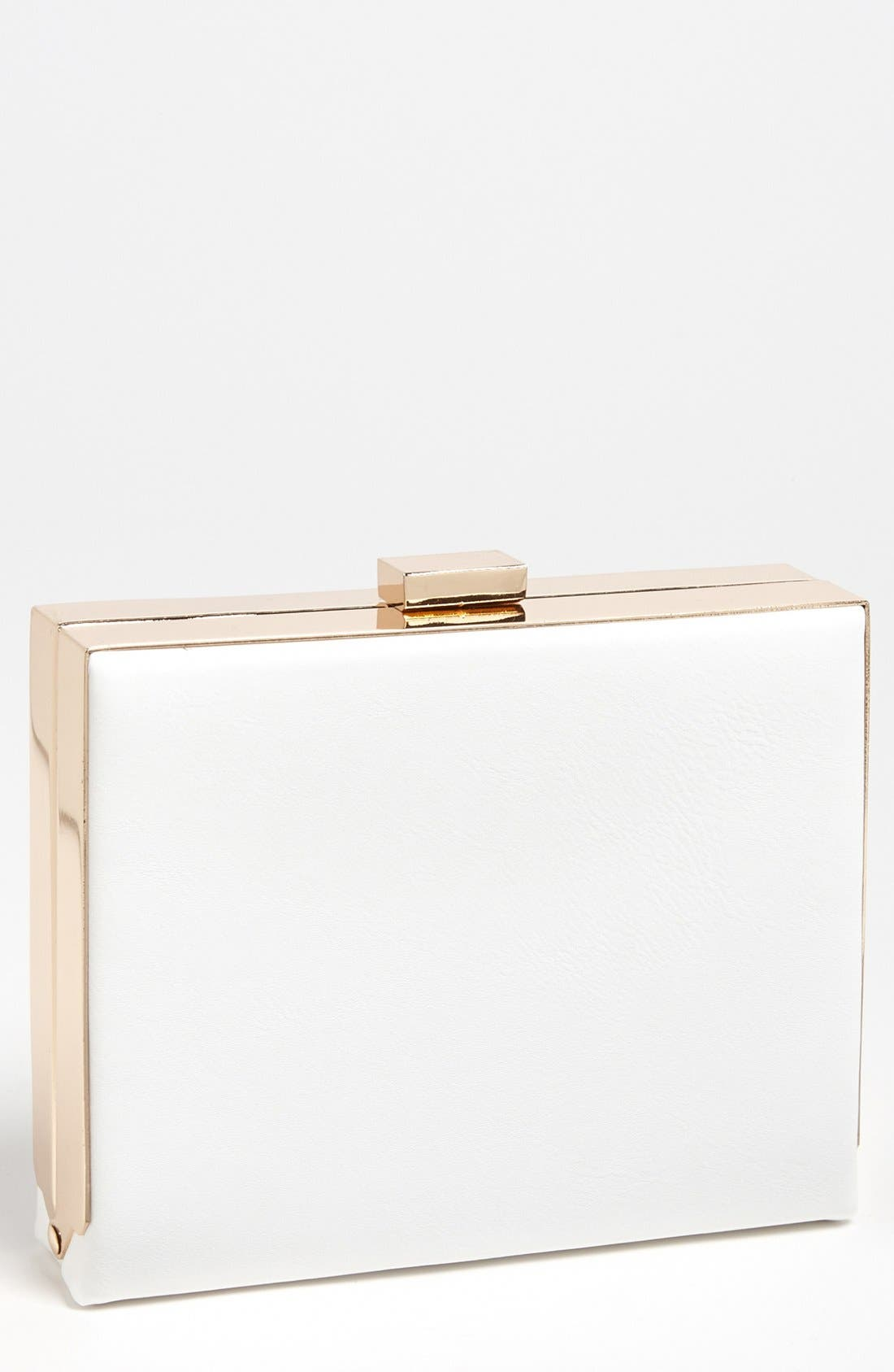 Couture Box Clutch,                             Main thumbnail 1, color,                             White
