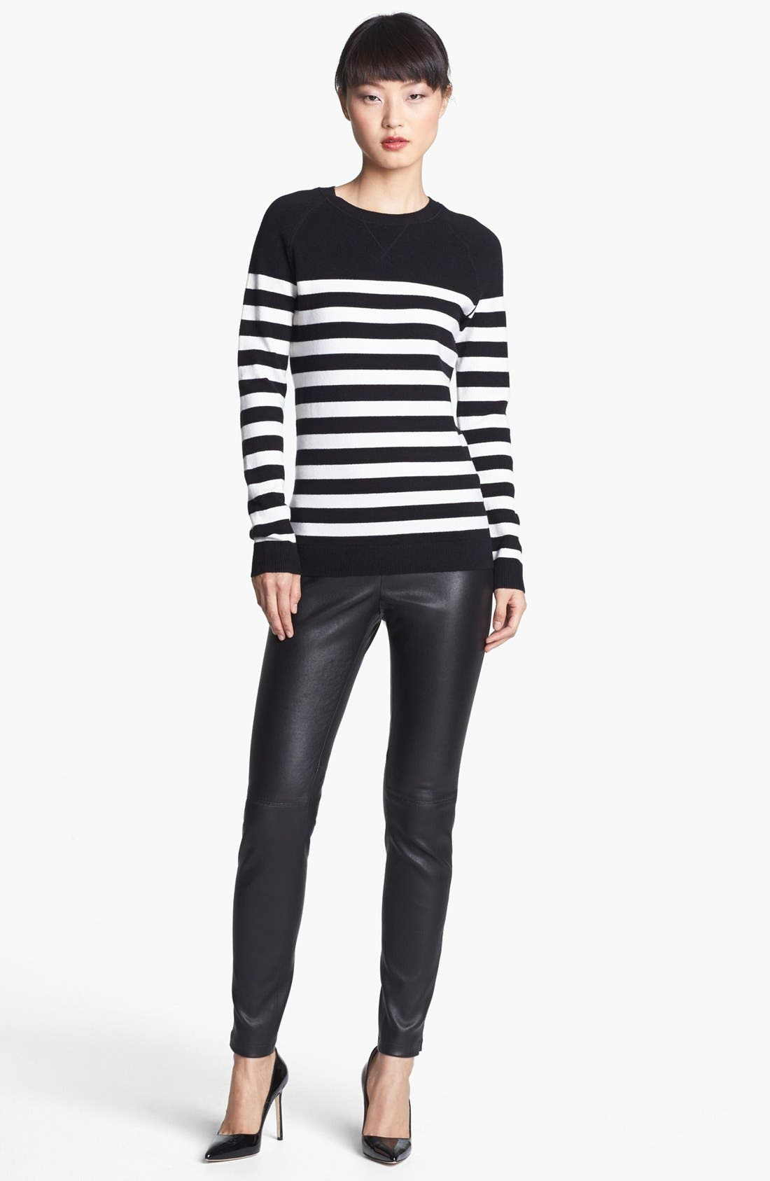 Alternate Image 2  - Miss Wu 'Zucca' Stripe Cashmere Blend Sweater (Nordstrom Exclusive)